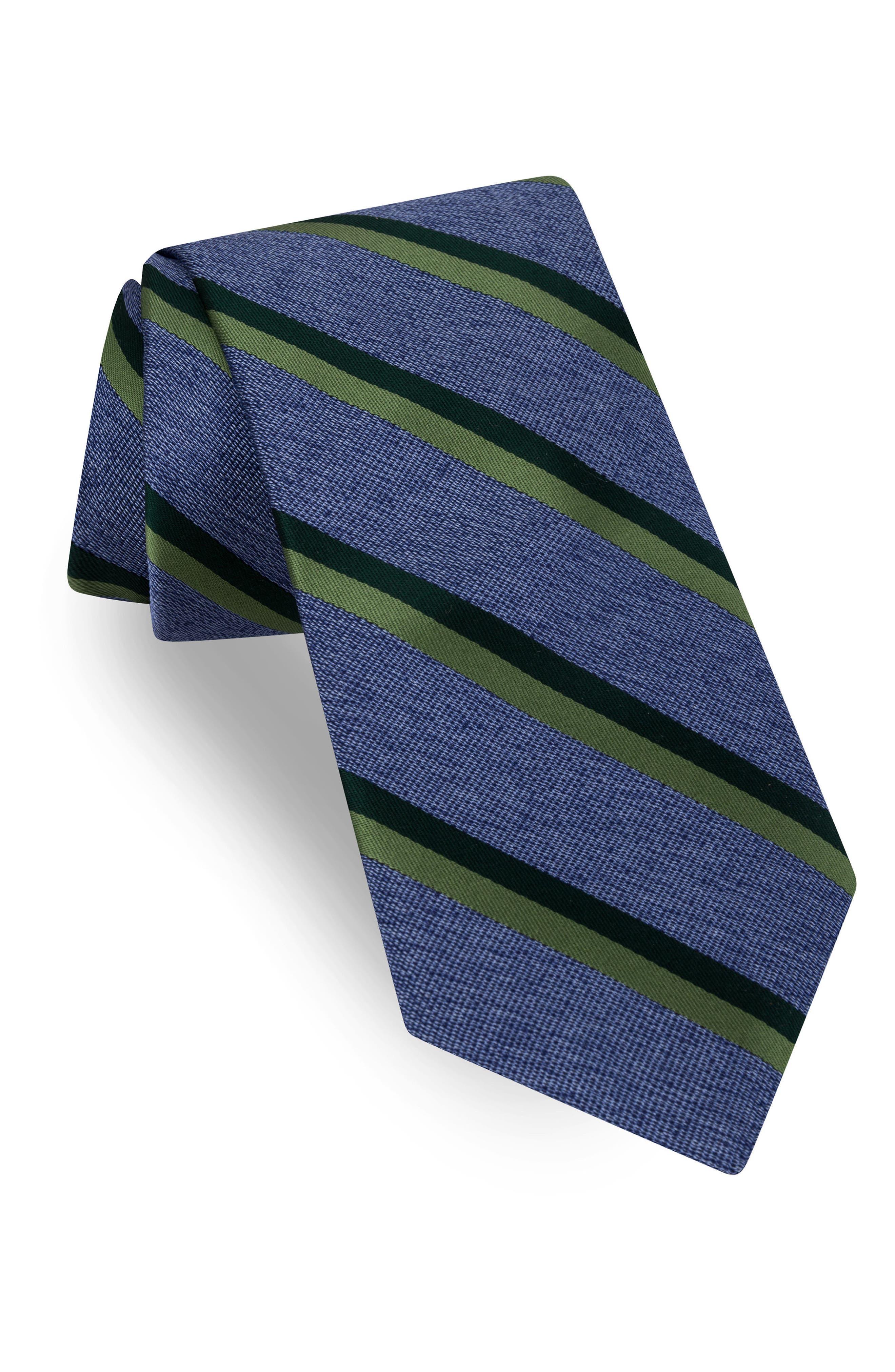 Stripe Silk Tie,                         Main,                         color, 400