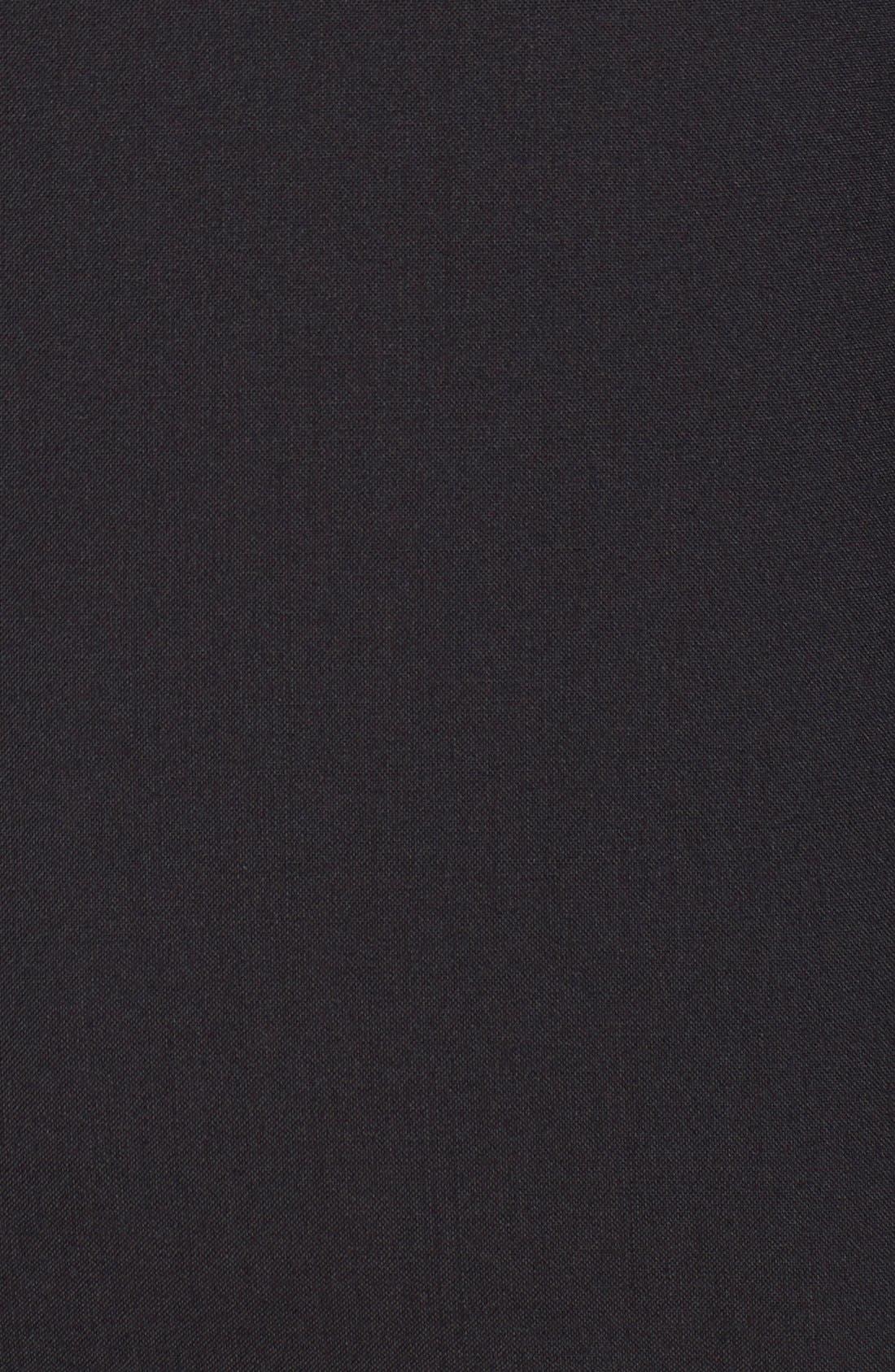 Trim Fit Wool Tuxedo,                             Alternate thumbnail 9, color,                             BLACK