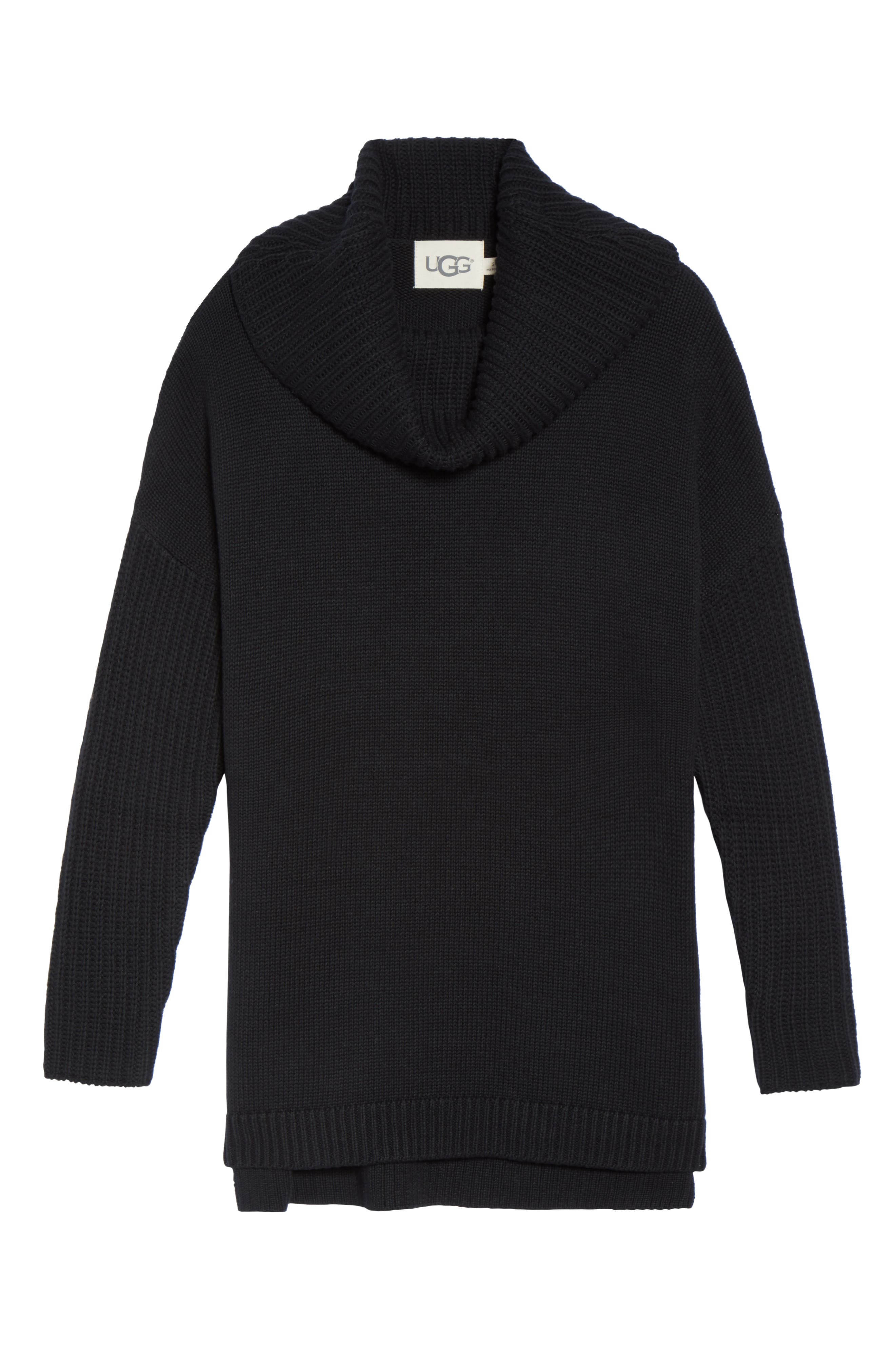 Cowl Neck Tunic Sweater,                             Alternate thumbnail 6, color,                             001