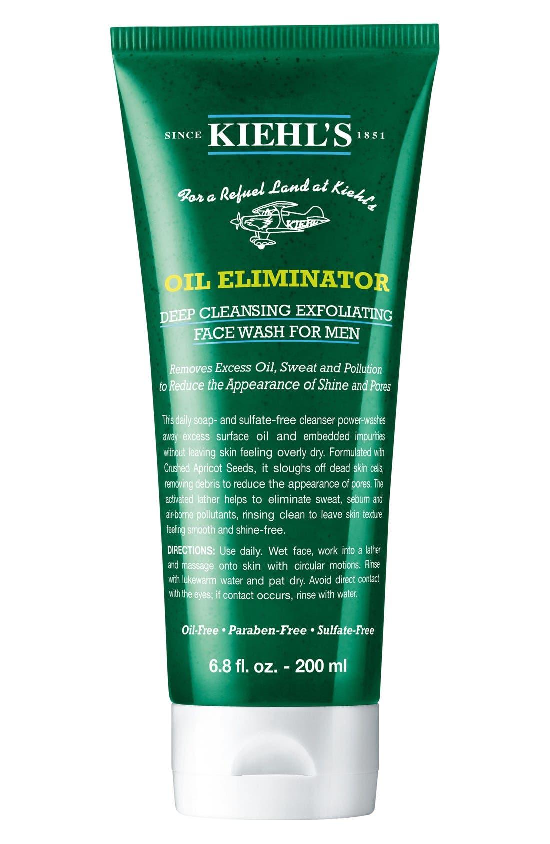 KIEHL'S SINCE 1851,                             'Oil Eliminator' Deep Cleansing Exfoliating Face Wash for Men,                             Alternate thumbnail 4, color,                             NO COLOR