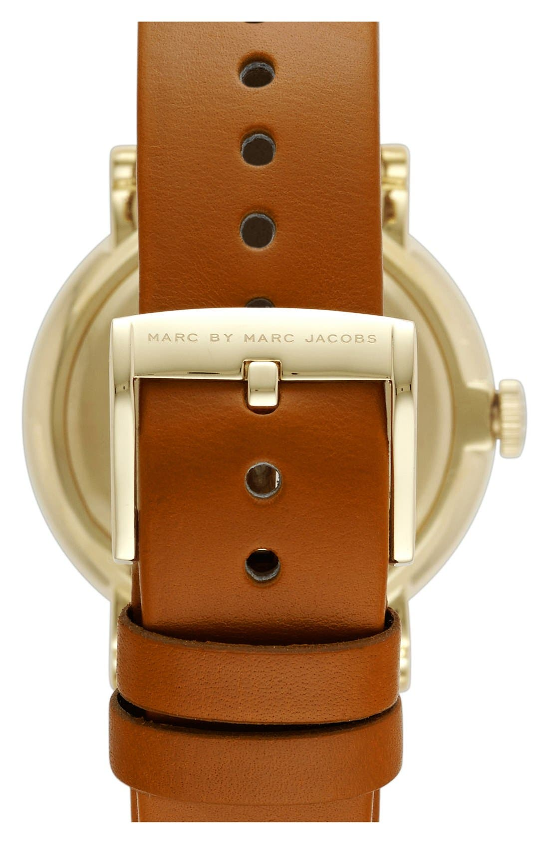 'Baker' Leather Strap Watch, 37mm,                             Alternate thumbnail 46, color,