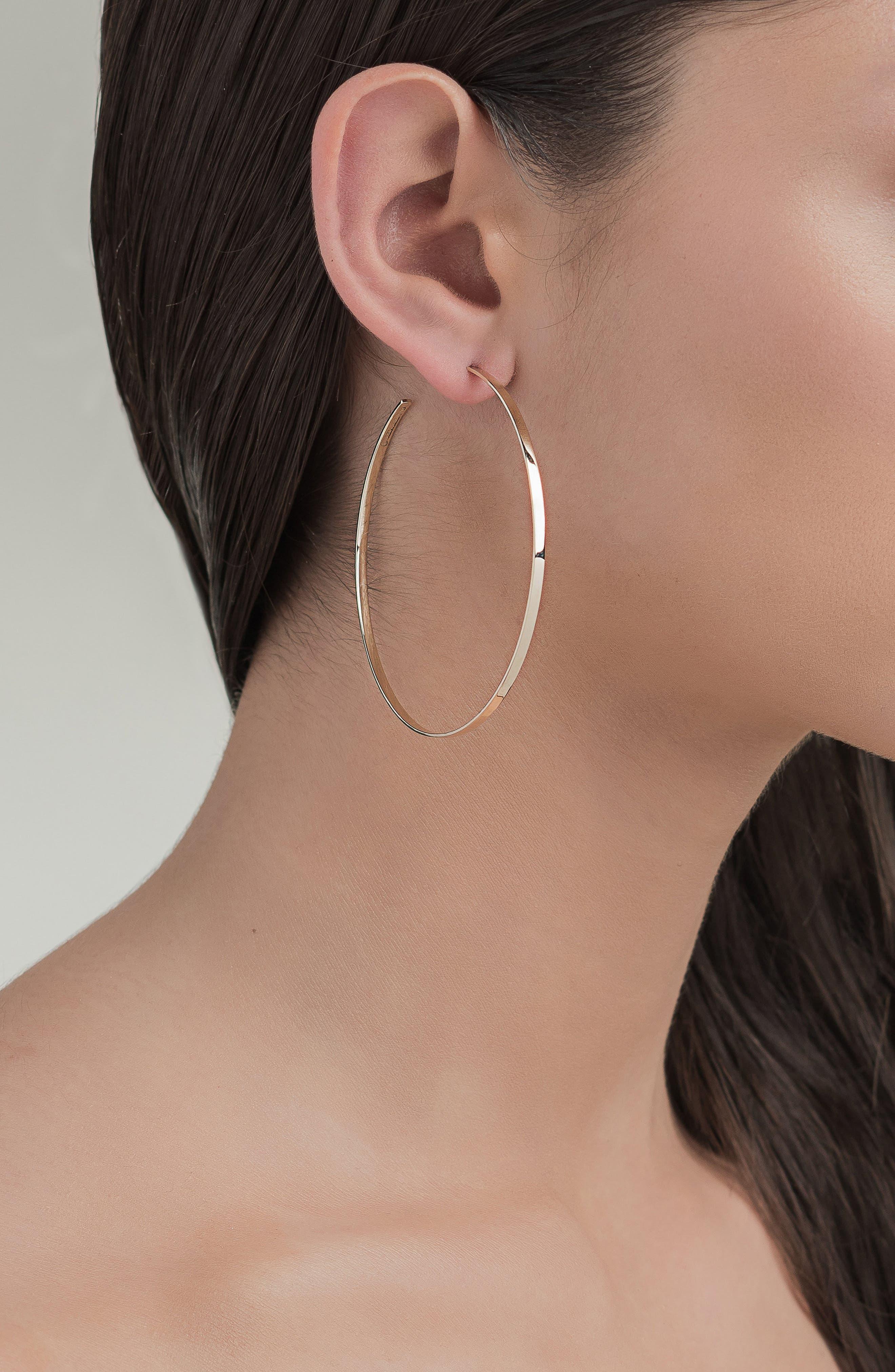 LANA JEWELRY,                             Sunrise Hoop Earrings,                             Alternate thumbnail 2, color,                             YELLOW GOLD