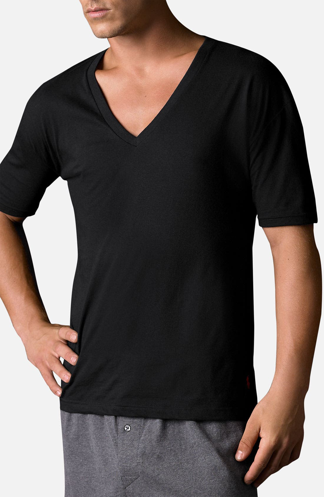 2-Pack V-Neck T-Shirt,                             Main thumbnail 1, color,                             001