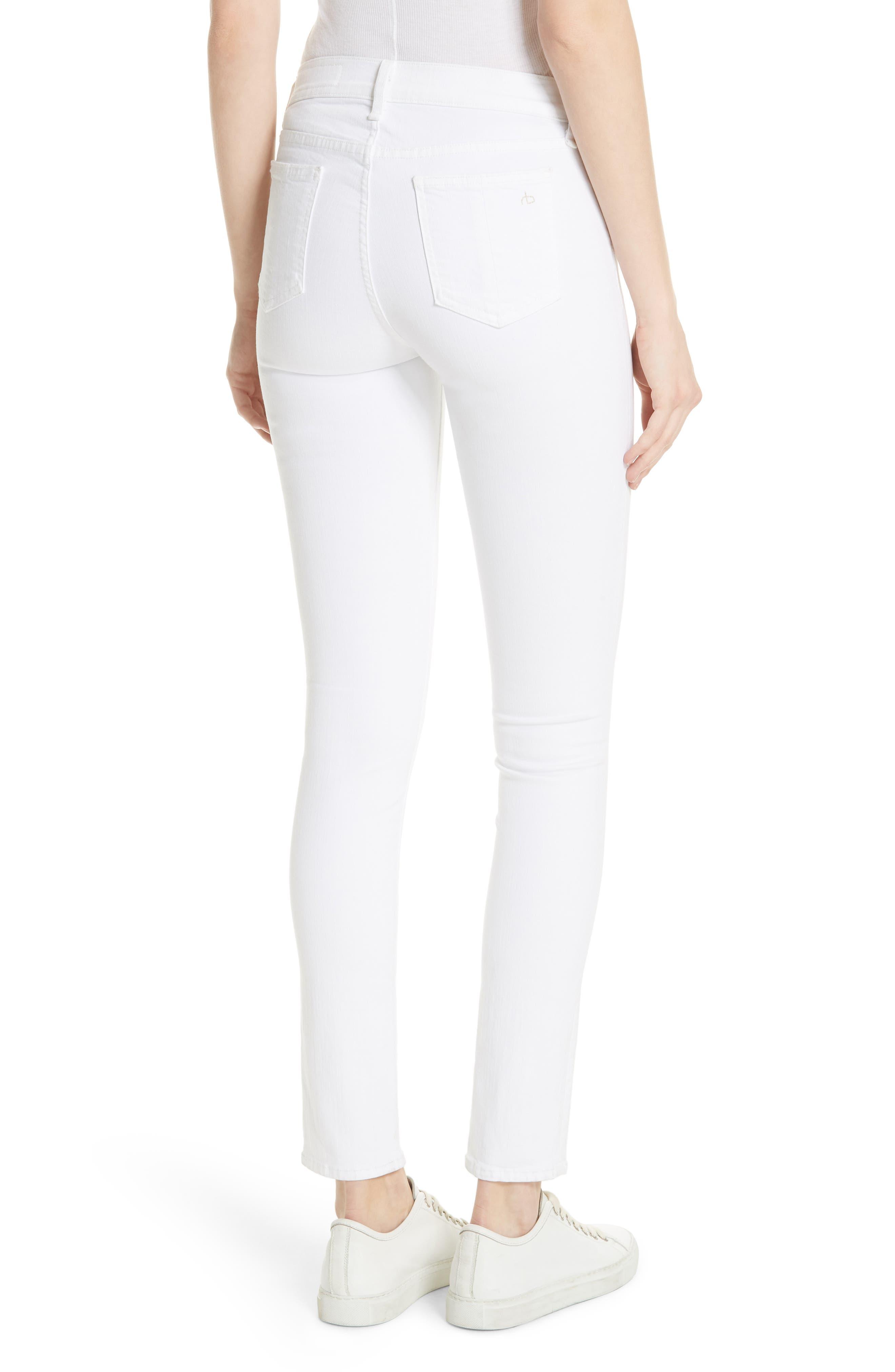 Skinny Jeans,                             Alternate thumbnail 2, color,                             BLANC