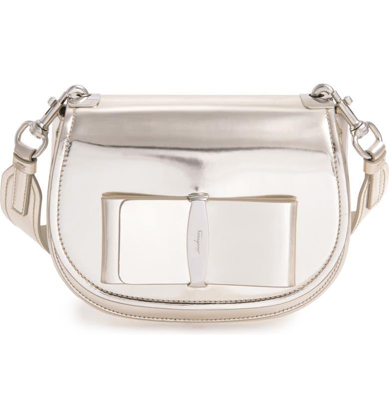 Salvatore Ferragamo Anna Metallic Leather Crossbody Bag  1d5635ebc70fd