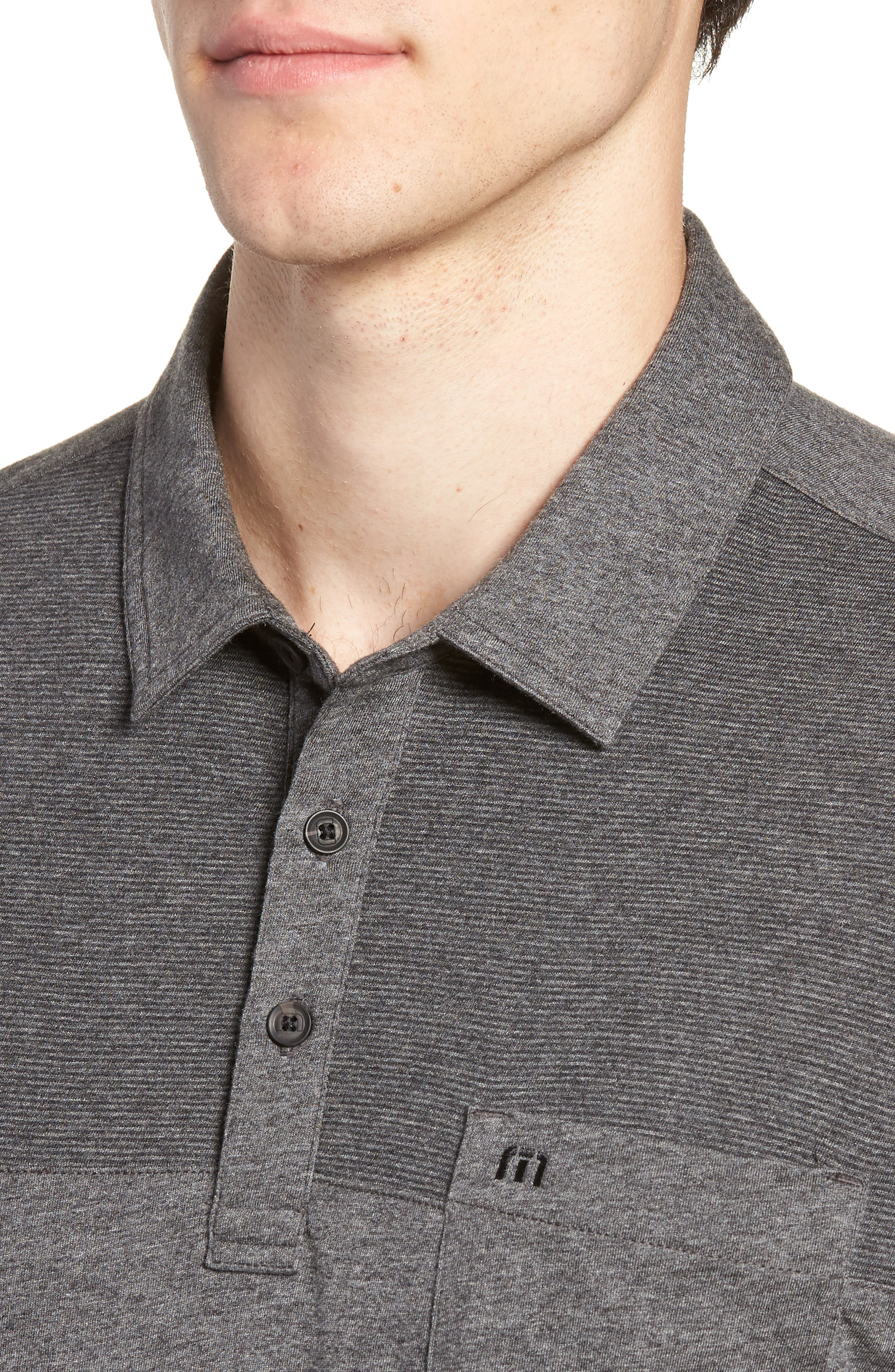 A Bomb Jersey Polo,                             Alternate thumbnail 4, color,                             HEATHER DARK GREY