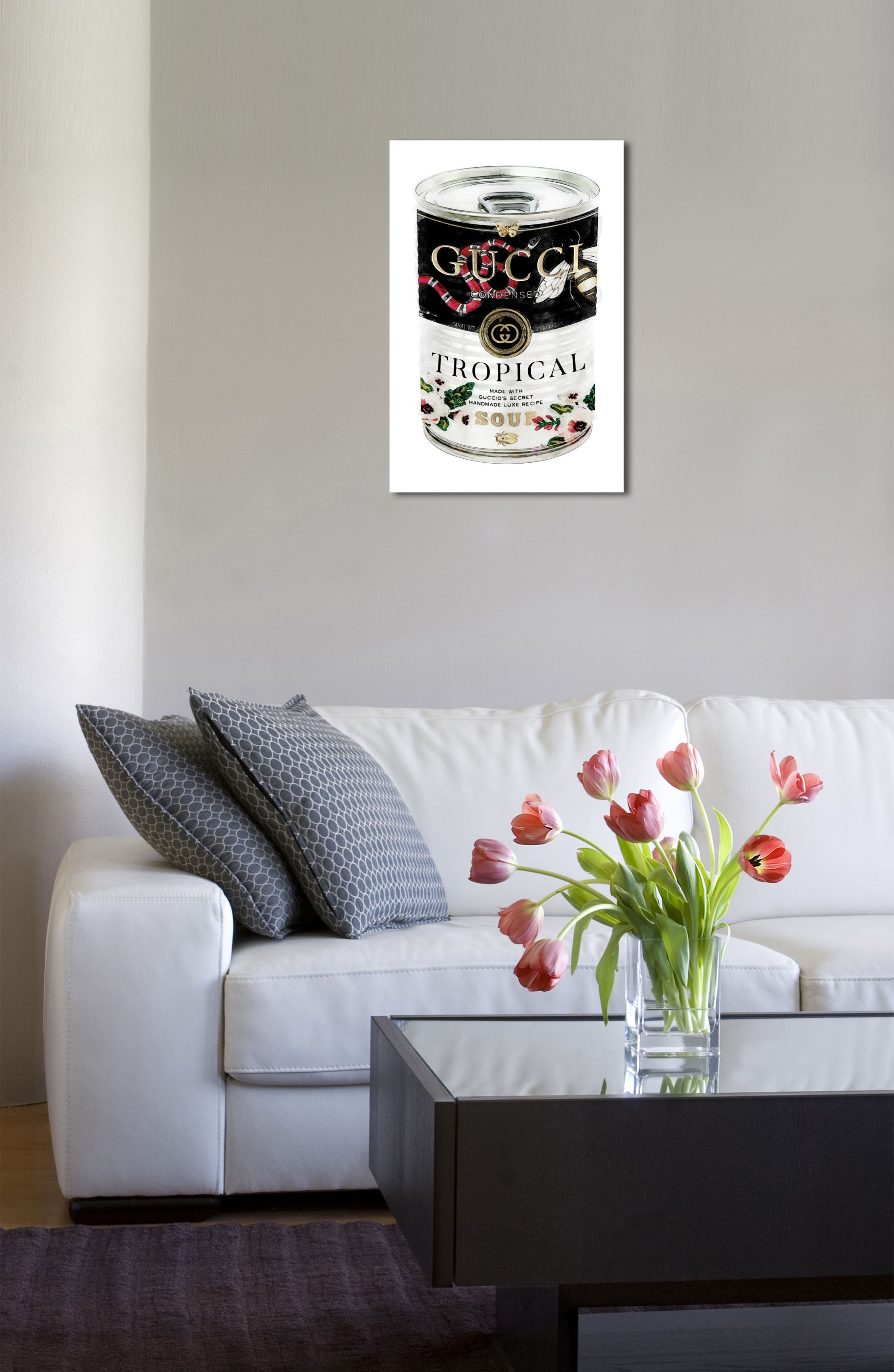Italian Luxe Soup Canvas Wall Art,                             Alternate thumbnail 3, color,                             001