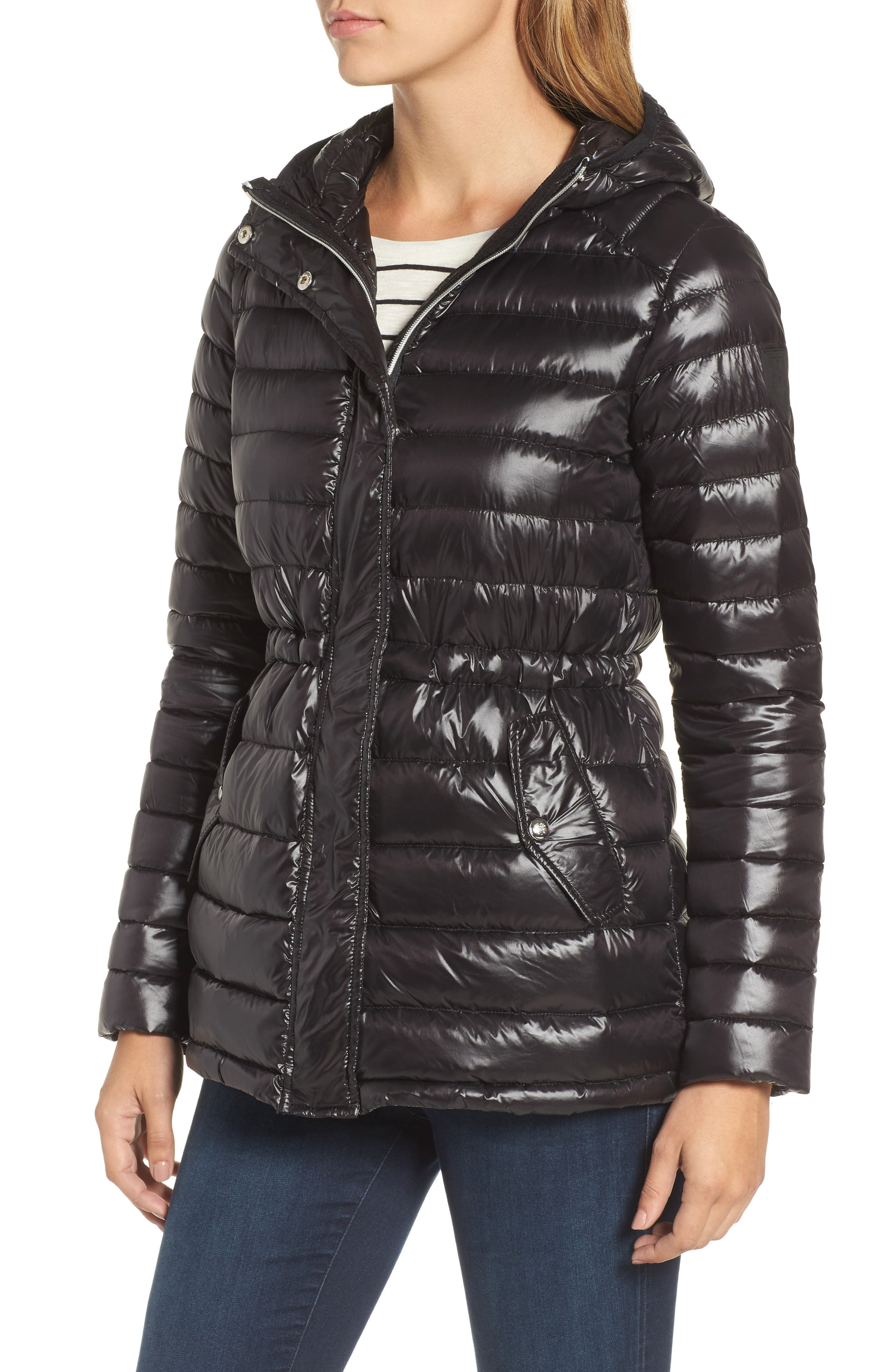 Hooded Down Jacket,                             Alternate thumbnail 4, color,                             001