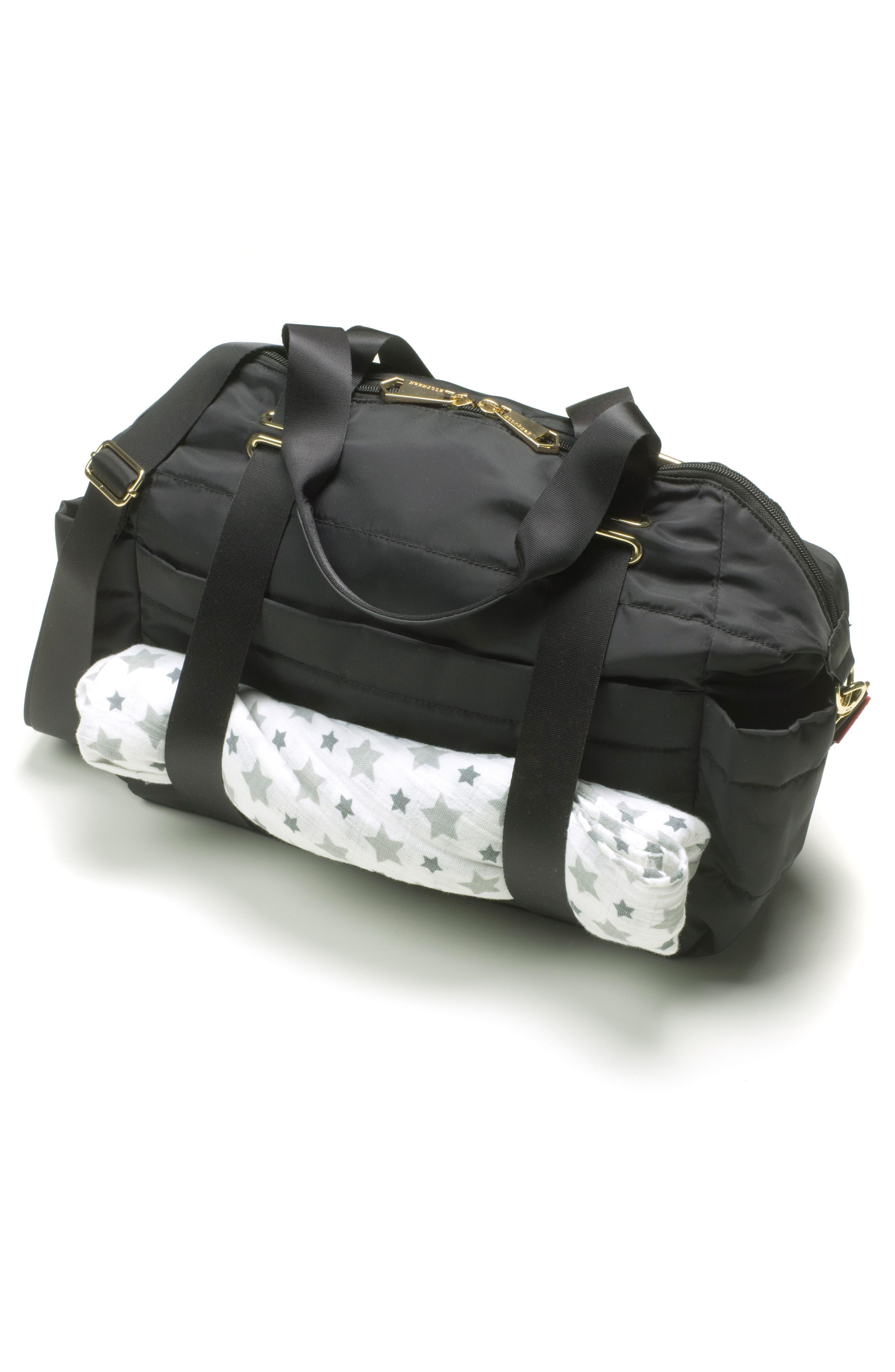 'Sandy' Diaper Bag,                             Alternate thumbnail 7, color,                             BLACK