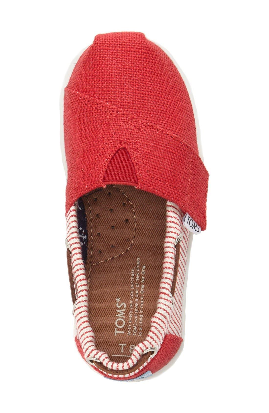'Bimini - Tiny' Slip-On,                             Alternate thumbnail 3, color,                             MEDIUM RED