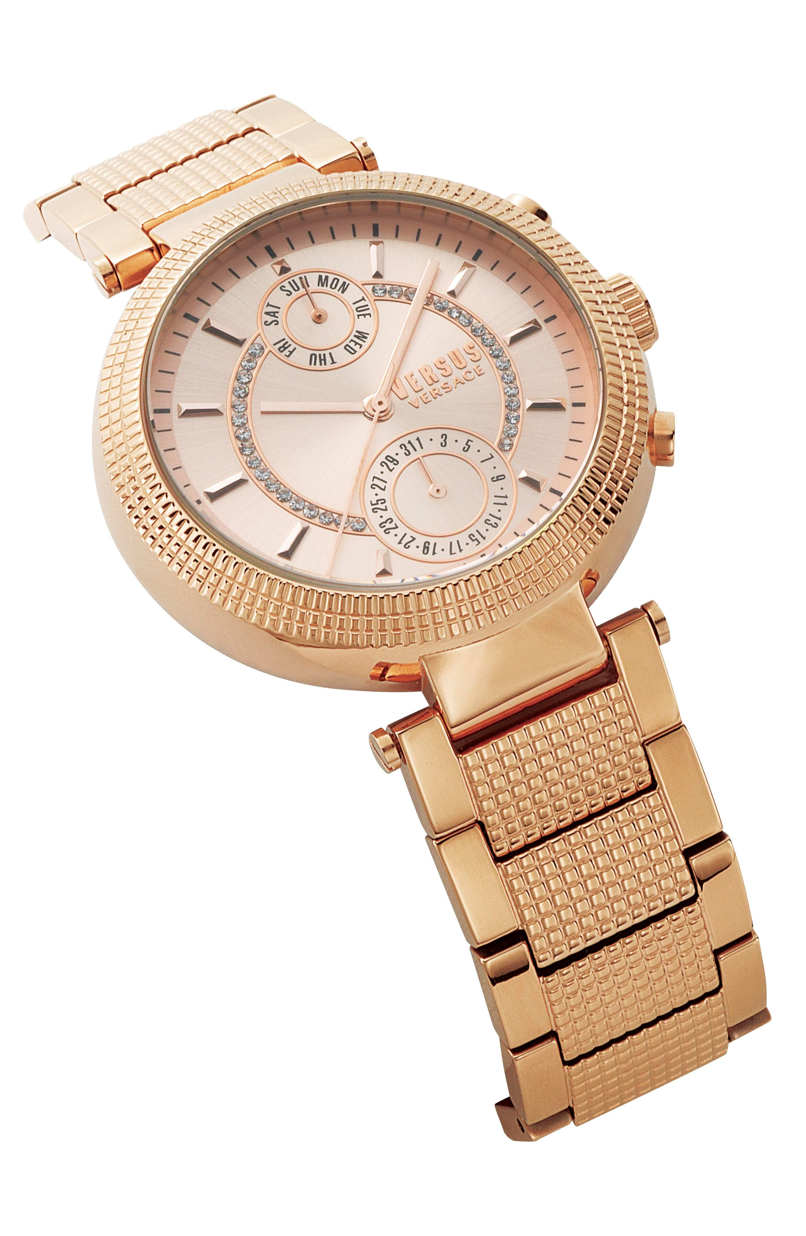 Versus by Versace Star Ferry Chronograph Bracelet Watch, 38mm,                             Alternate thumbnail 8, color,
