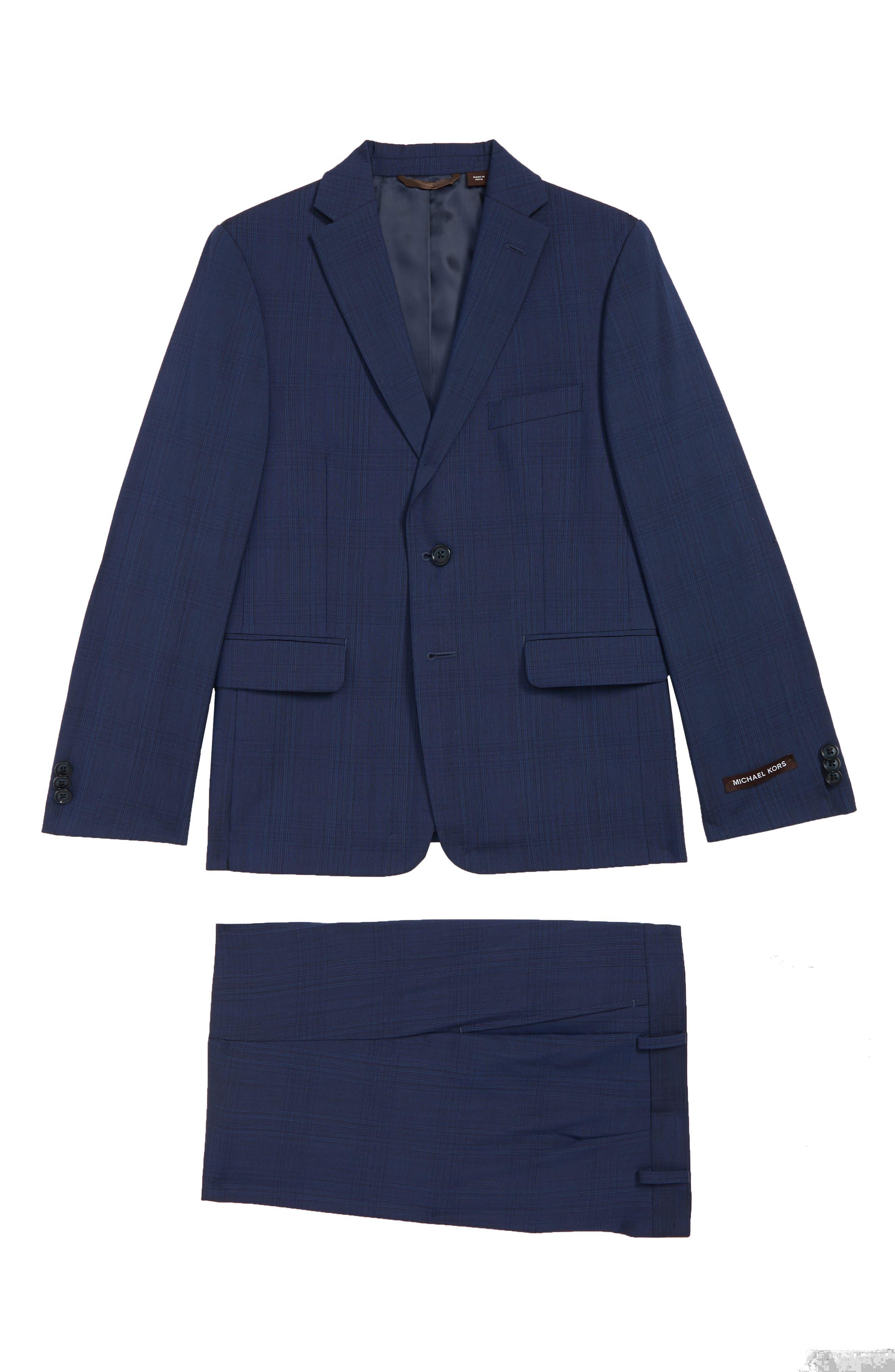 Boys Michael Kors Plaid Suit