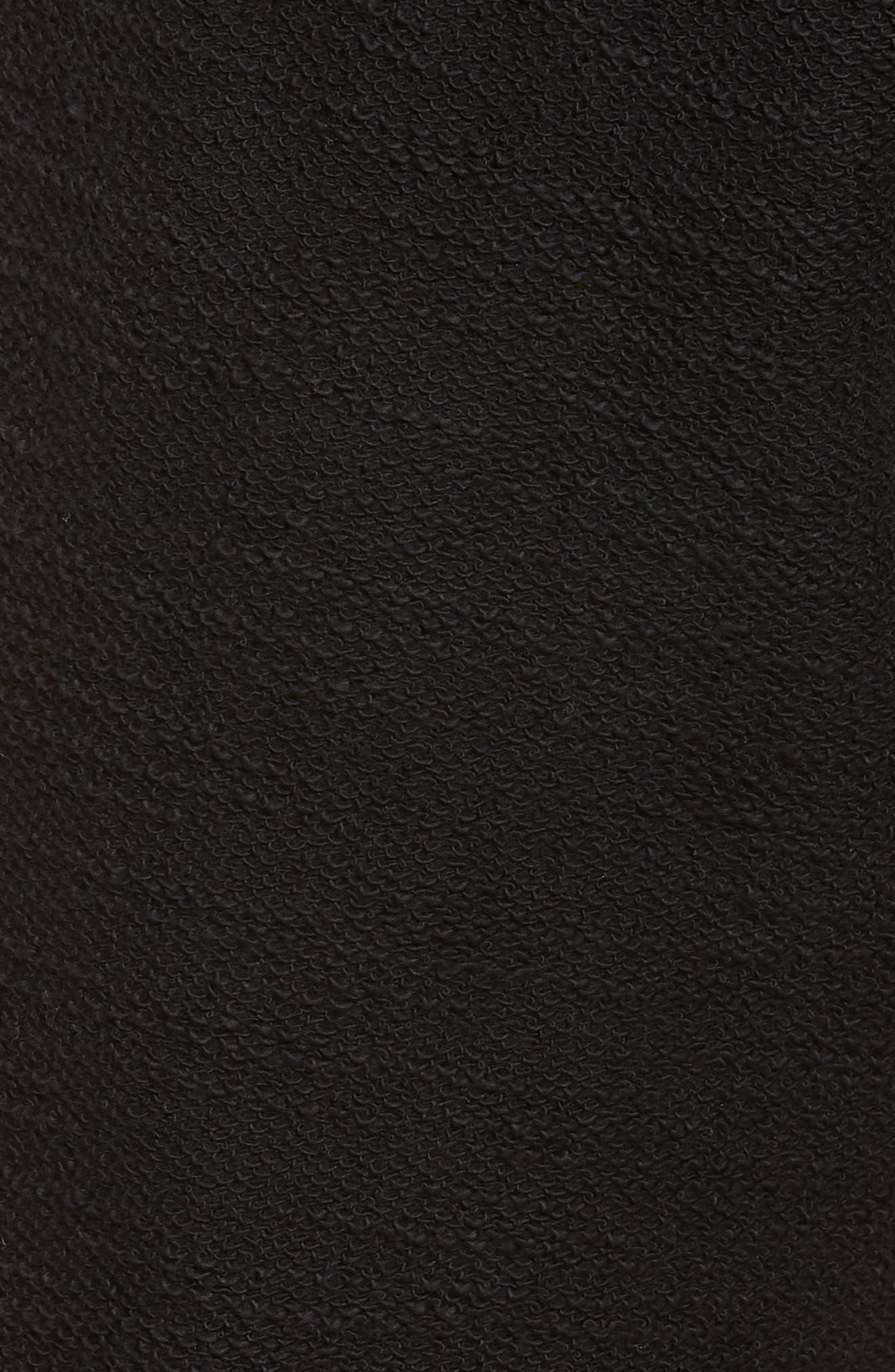 Terry Cotton Blend Shorts,                             Alternate thumbnail 5, color,                             001