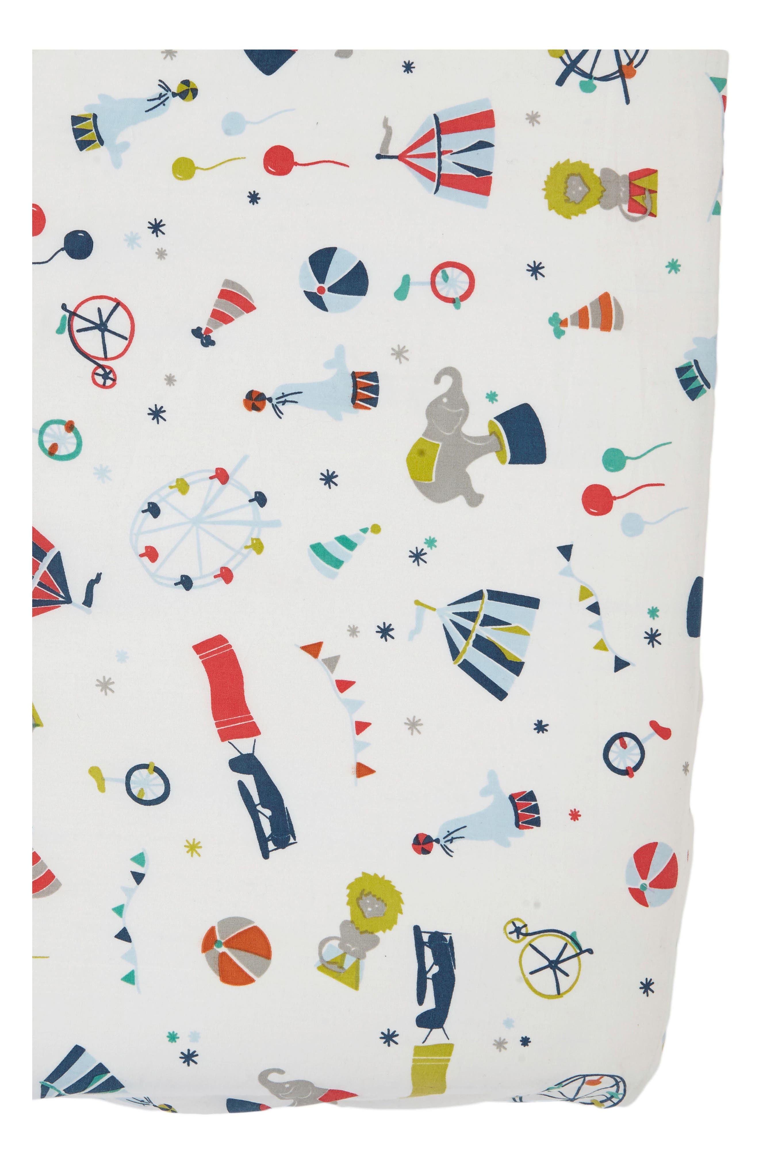 Big Top Crib Sheet,                             Main thumbnail 1, color,                             450