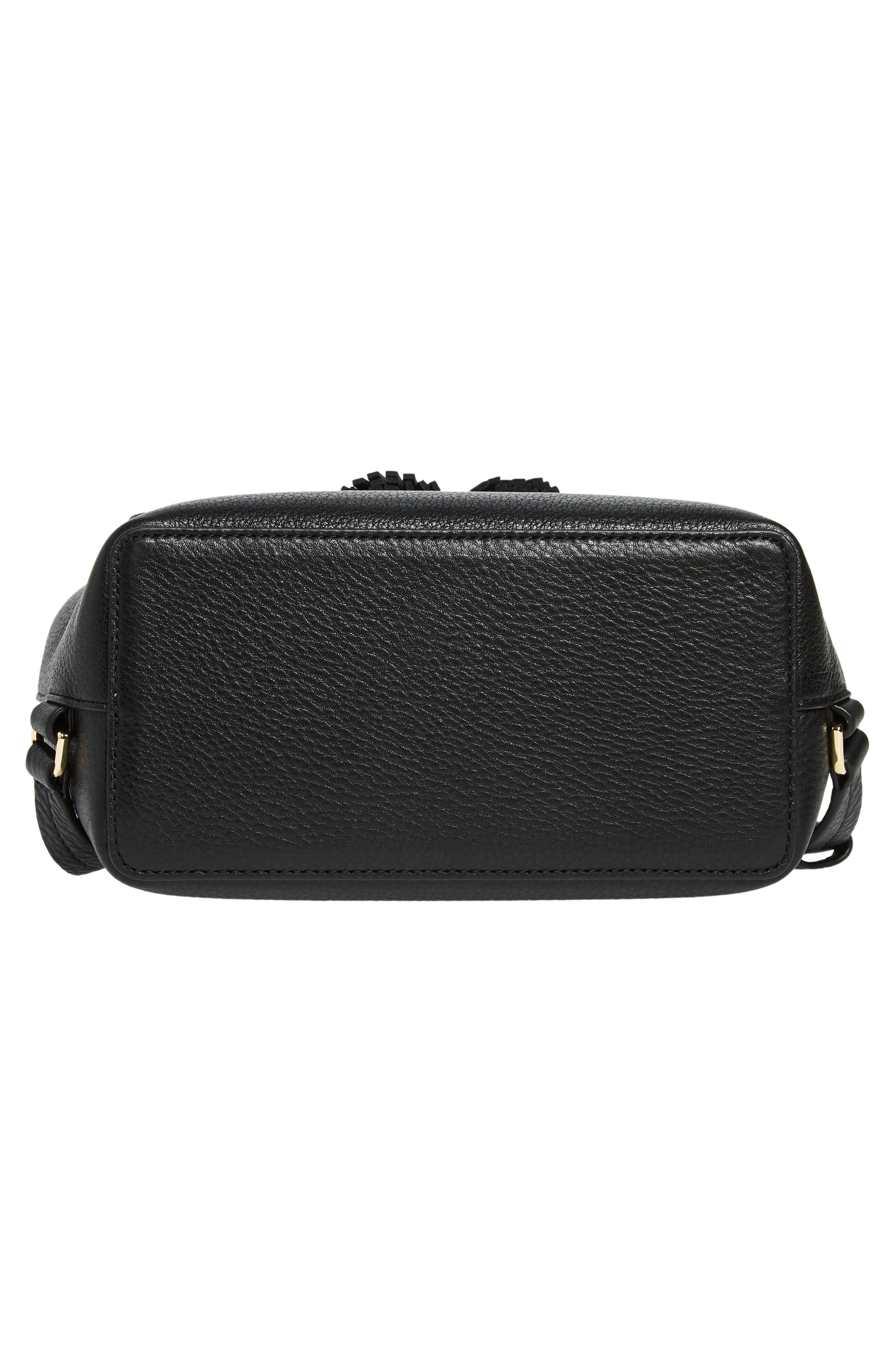hayes street - teba leather backpack,                             Alternate thumbnail 6, color,                             BLACK