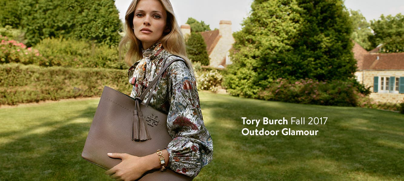 Tory Burch Fall 2017: outdoor glamour.