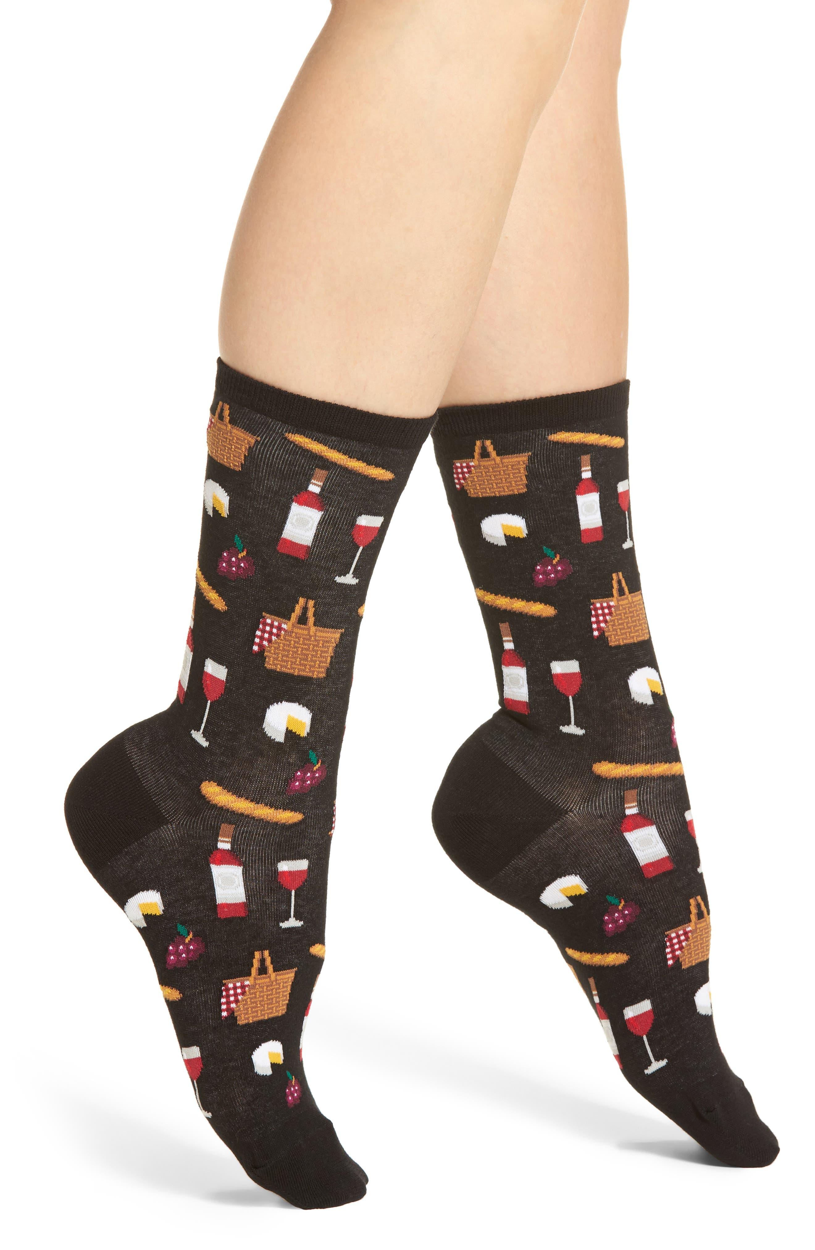 Picnic Crew Socks,                         Main,                         color, 001