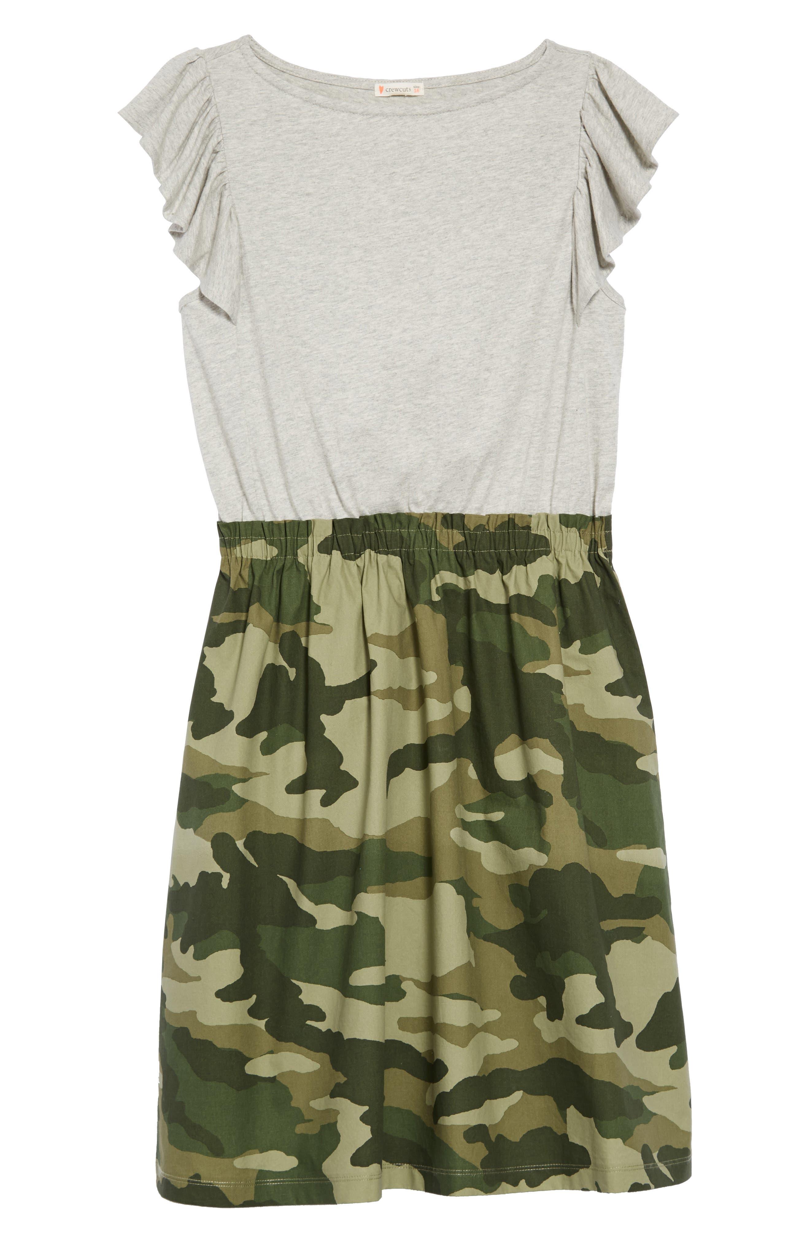 Mixed Media Dress,                             Main thumbnail 1, color,                             HTHR DUSK
