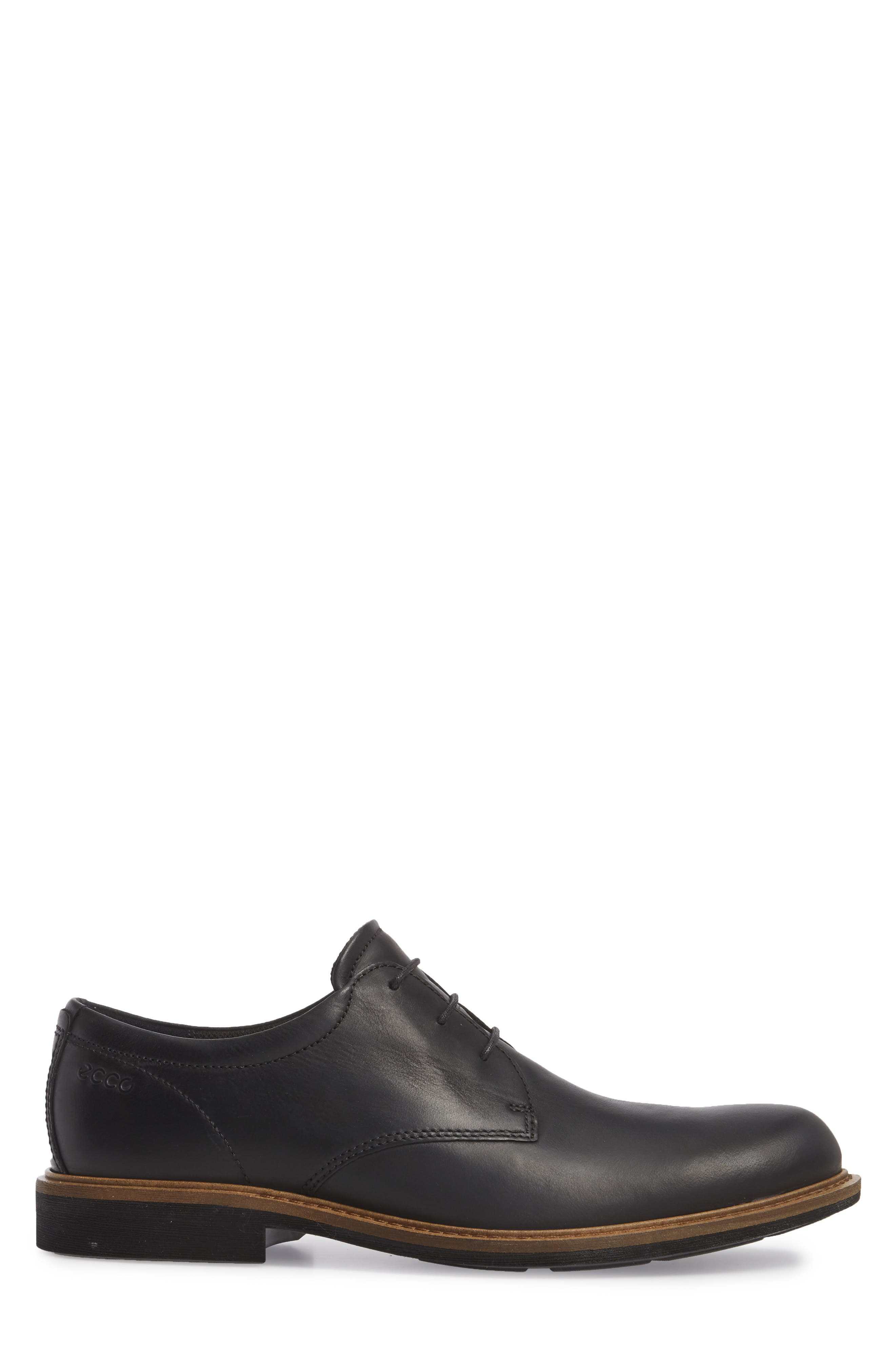Findlay Plain Toe Derby,                             Alternate thumbnail 3, color,                             BLACK LEATHER