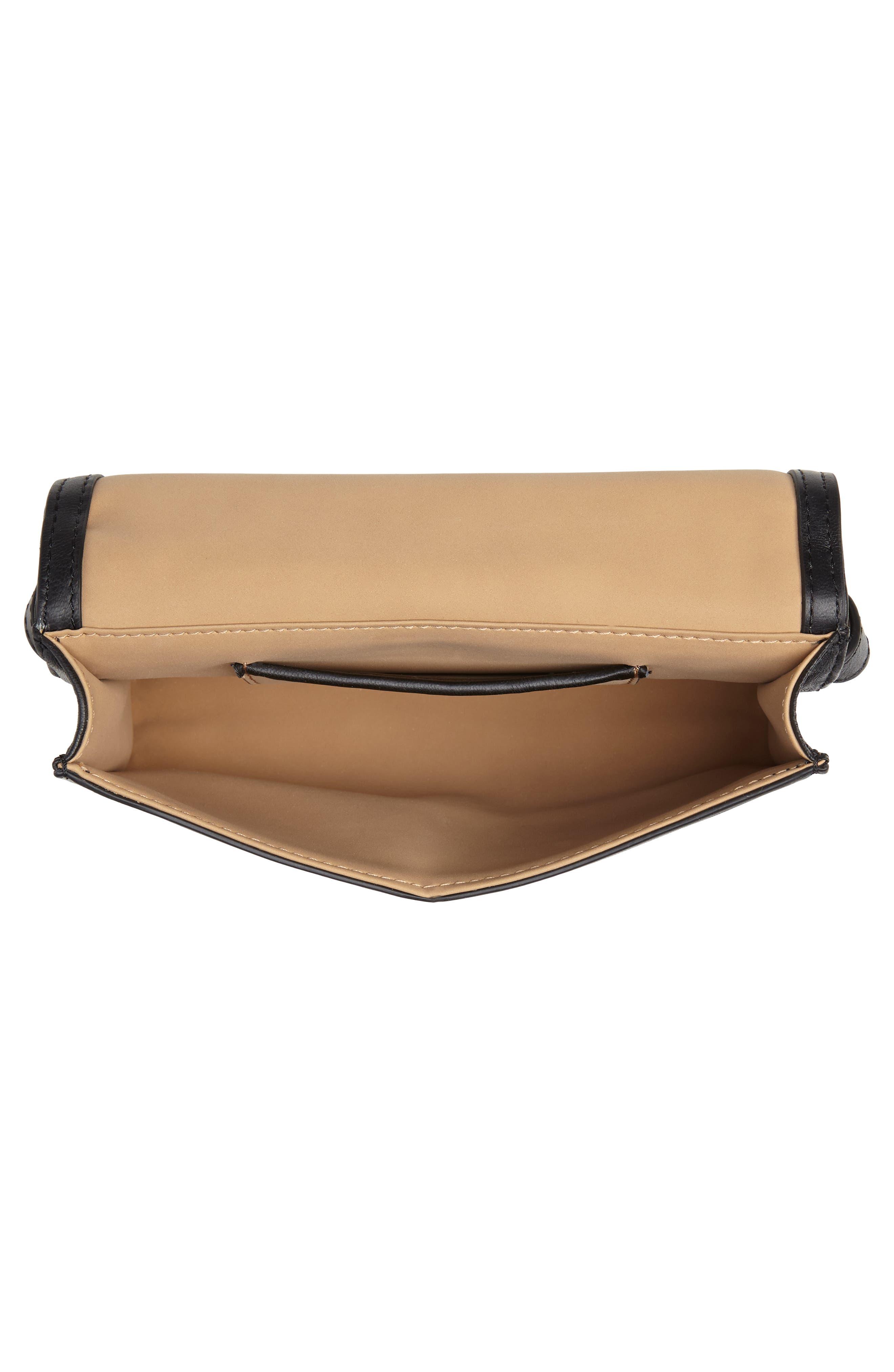 Deco M Quilted Leather Belt Bag,                             Alternate thumbnail 5, color,                             BLACK