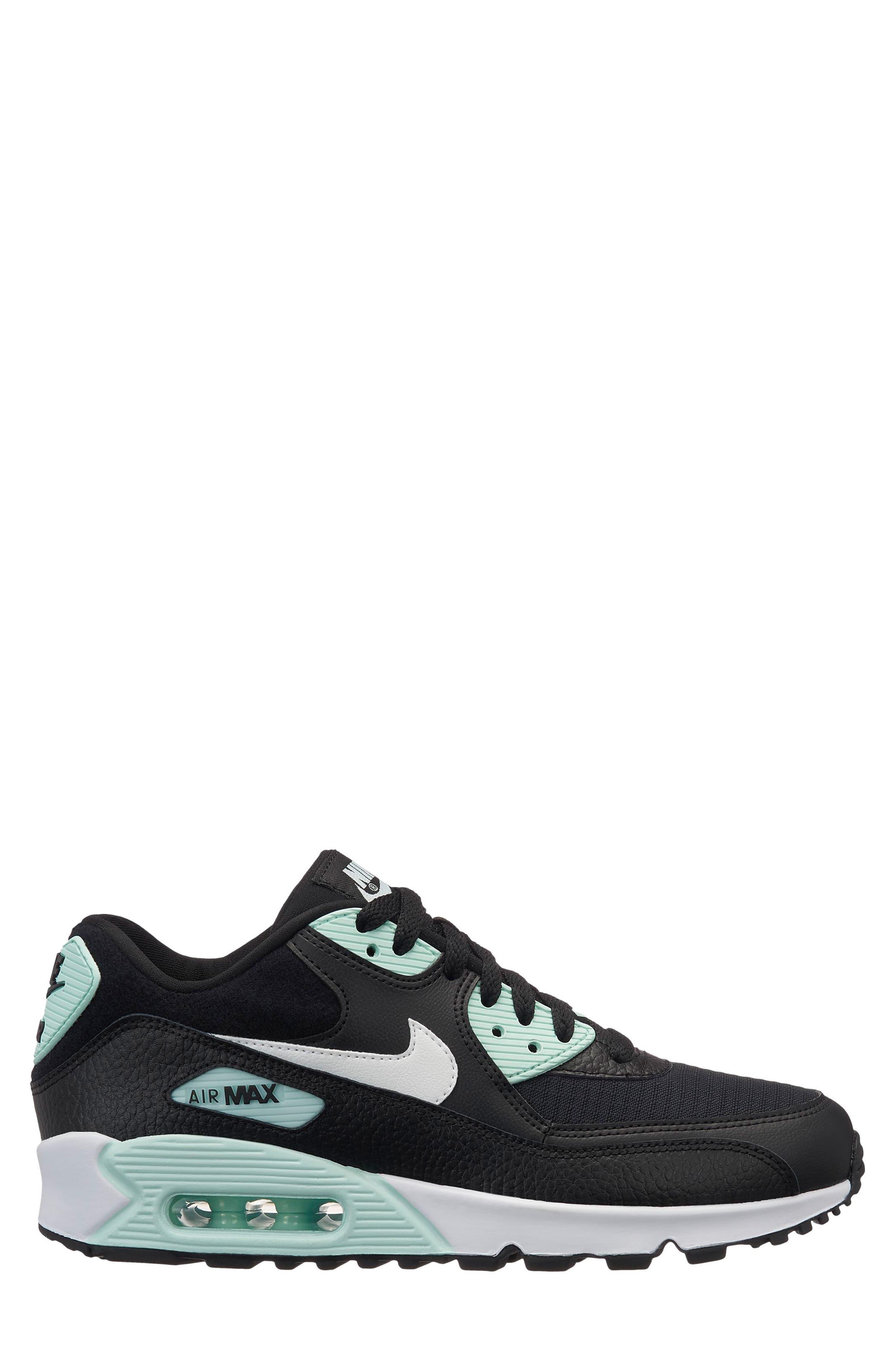 Air Max 90 Sneaker,                             Main thumbnail 1, color,                             BLACK/ SUMMIT WHITE/ IGLOO