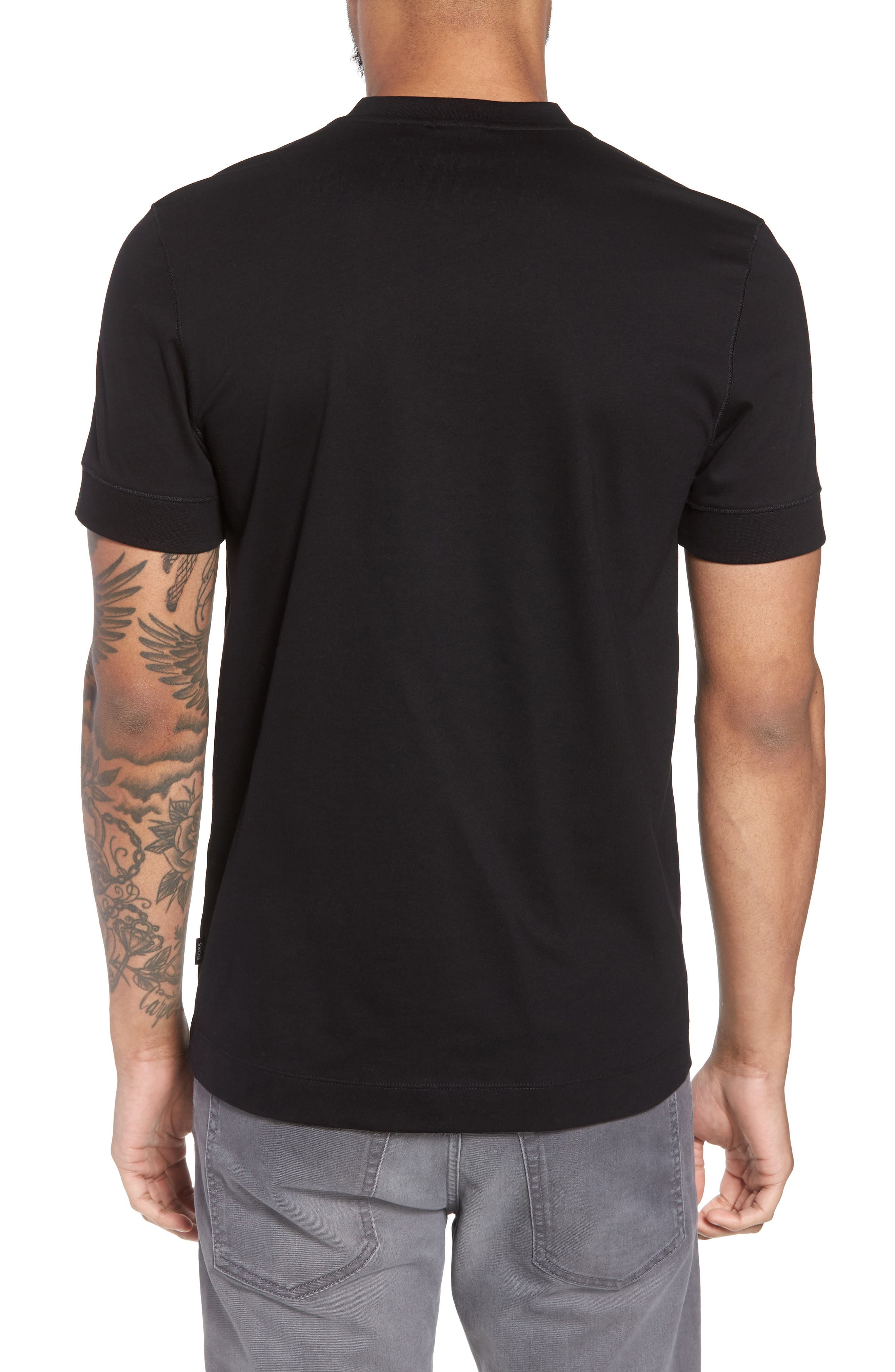 Tiller Short Sleeve Henley,                             Alternate thumbnail 2, color,                             BLACK