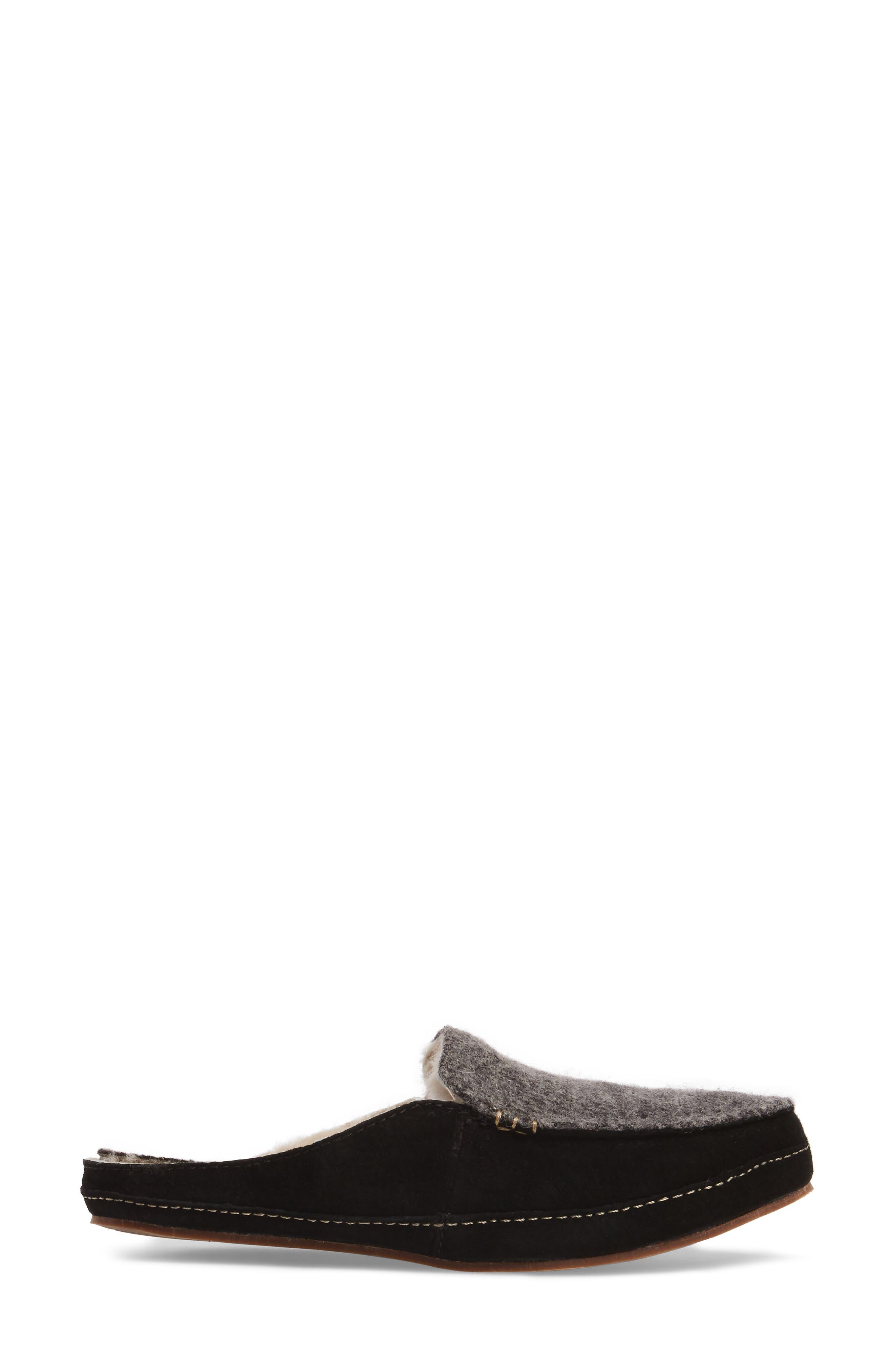 Alaula Genuine Shearling Lined Slipper,                             Alternate thumbnail 3, color,                             087