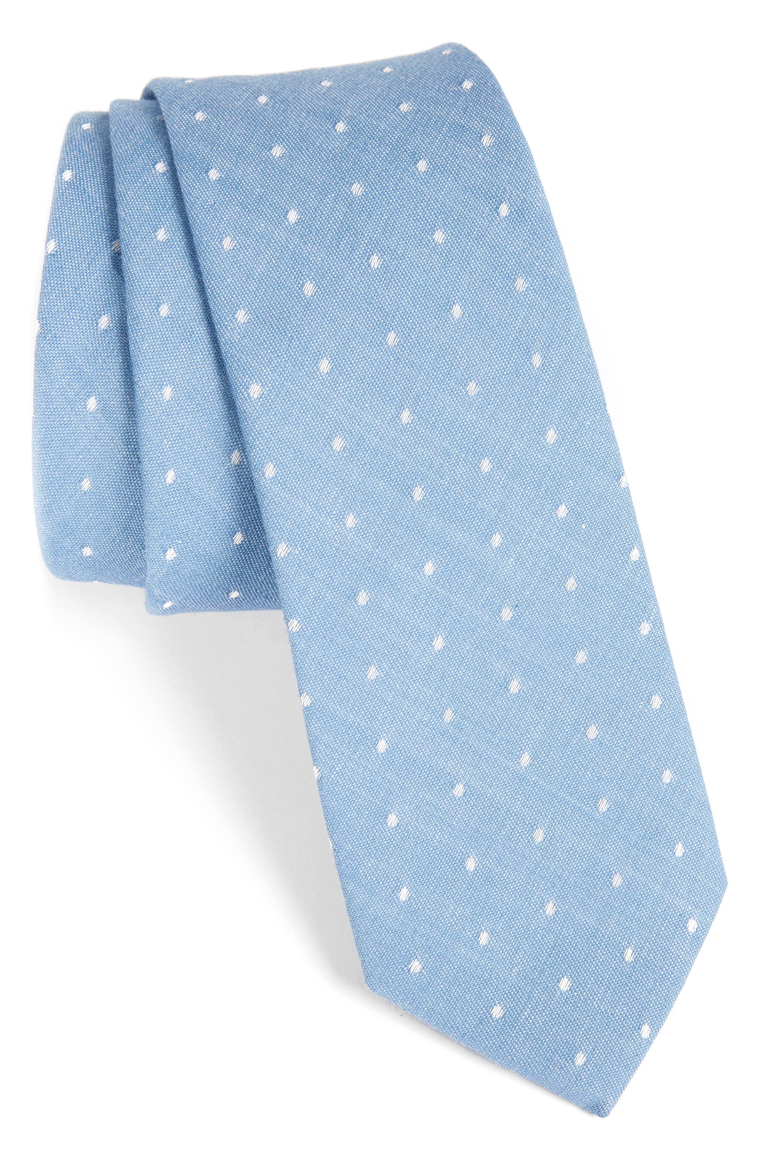 Dot Cotton Tie,                             Main thumbnail 2, color,
