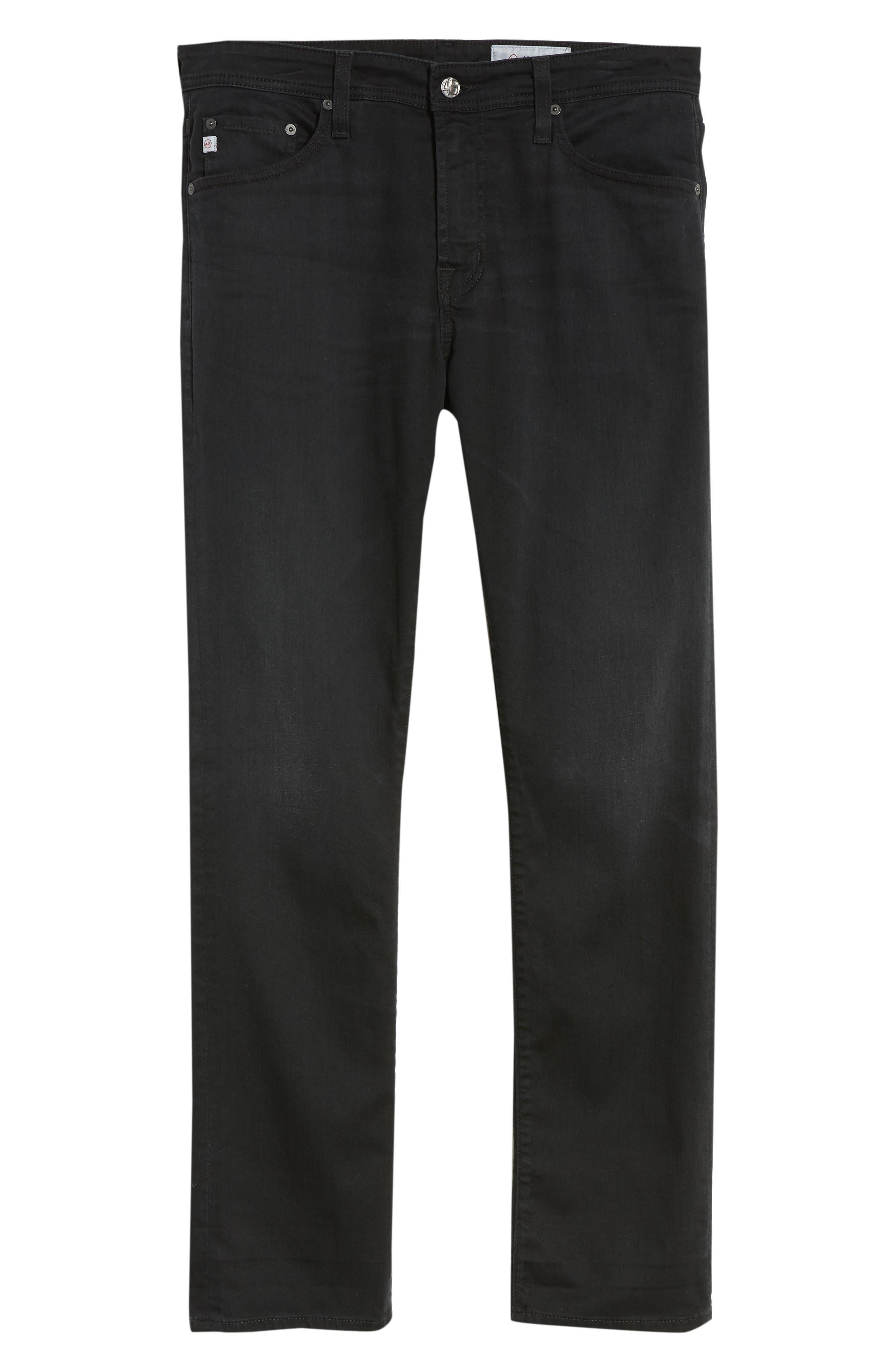Everett Slim Straight Leg Jeans,                             Alternate thumbnail 6, color,                             001