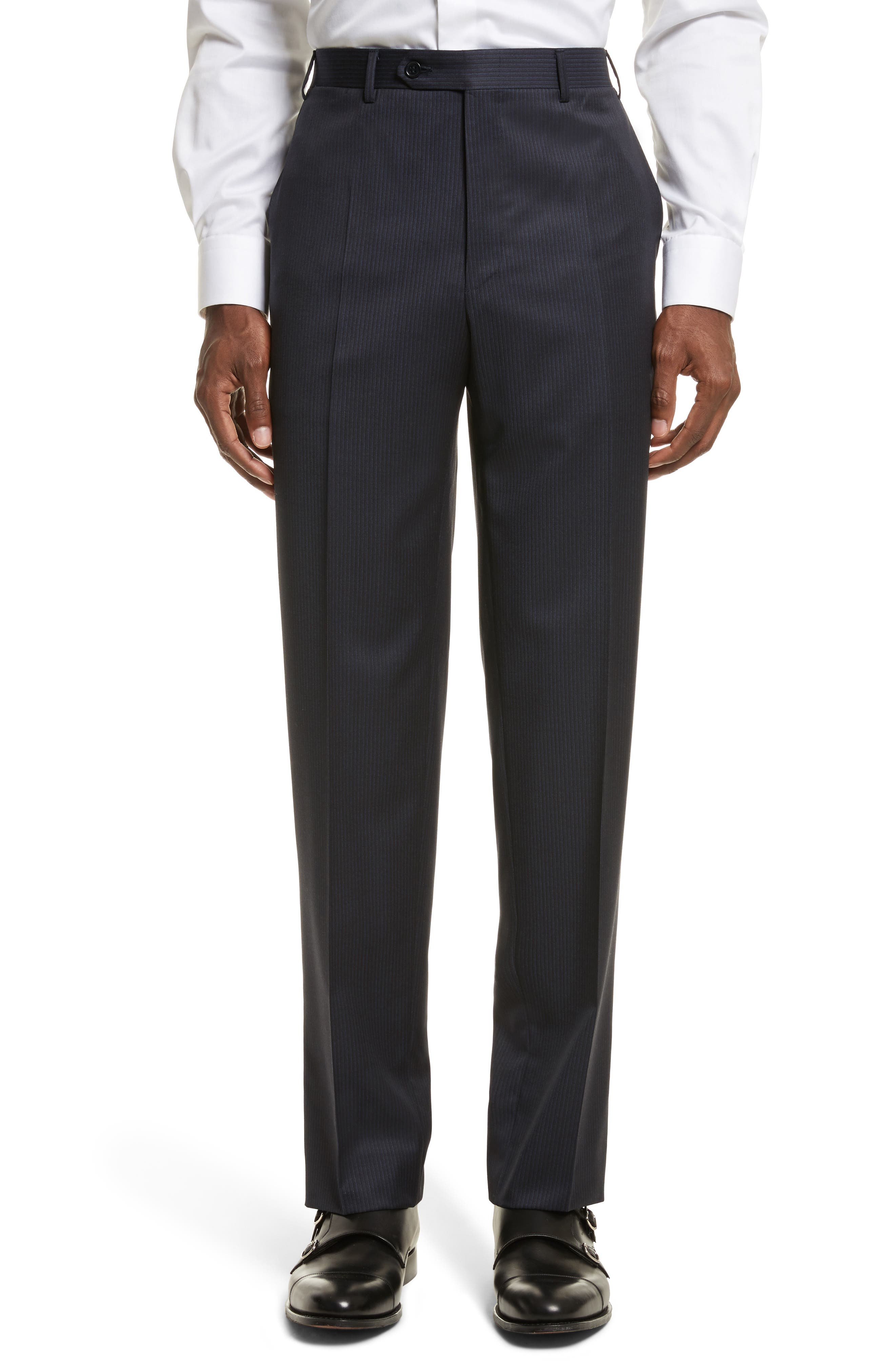 Classic Fit Stripe Wool Suit,                             Alternate thumbnail 7, color,                             400