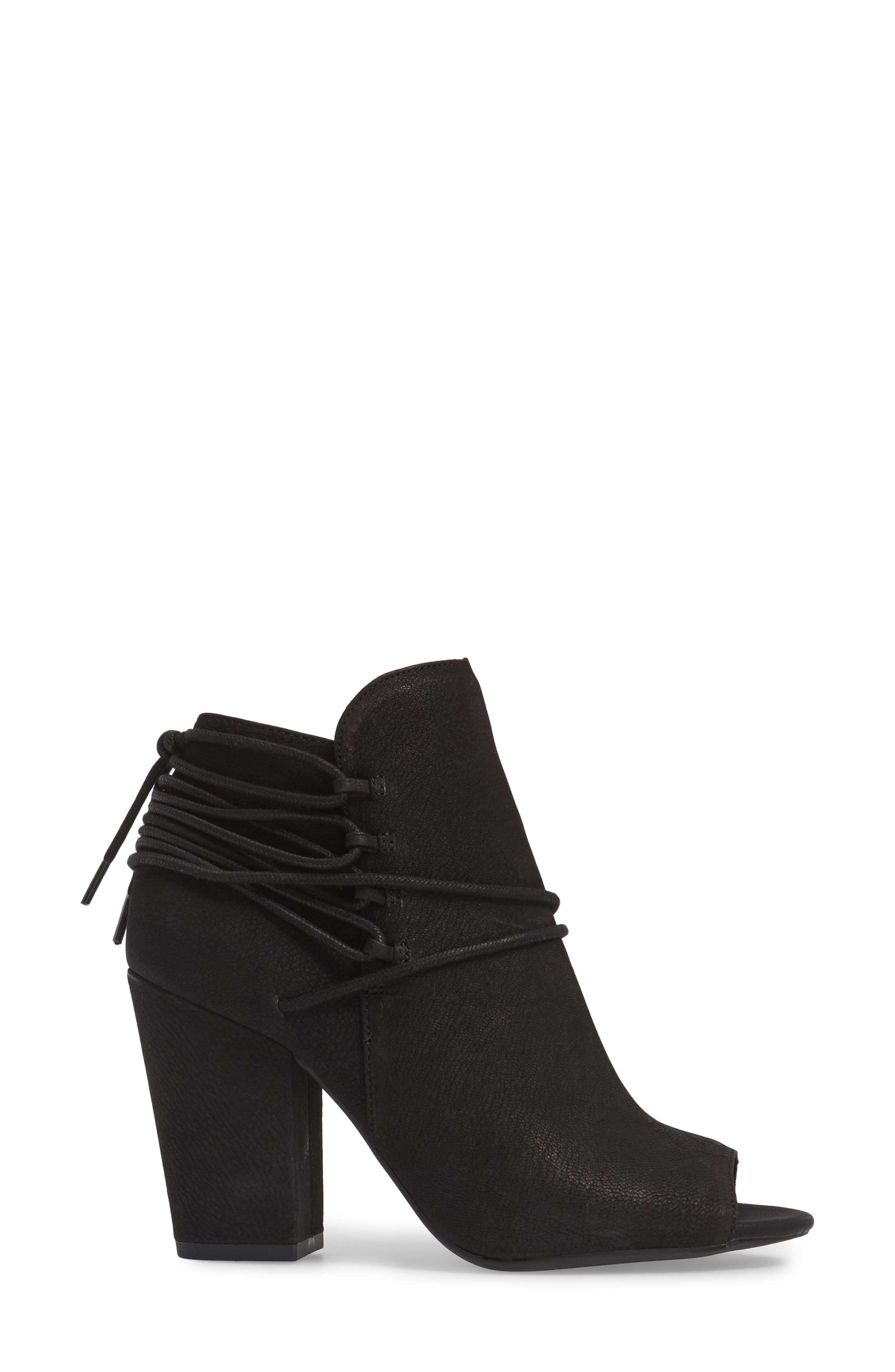 Remni Peep Toe Bootie,                             Alternate thumbnail 3, color,                             001