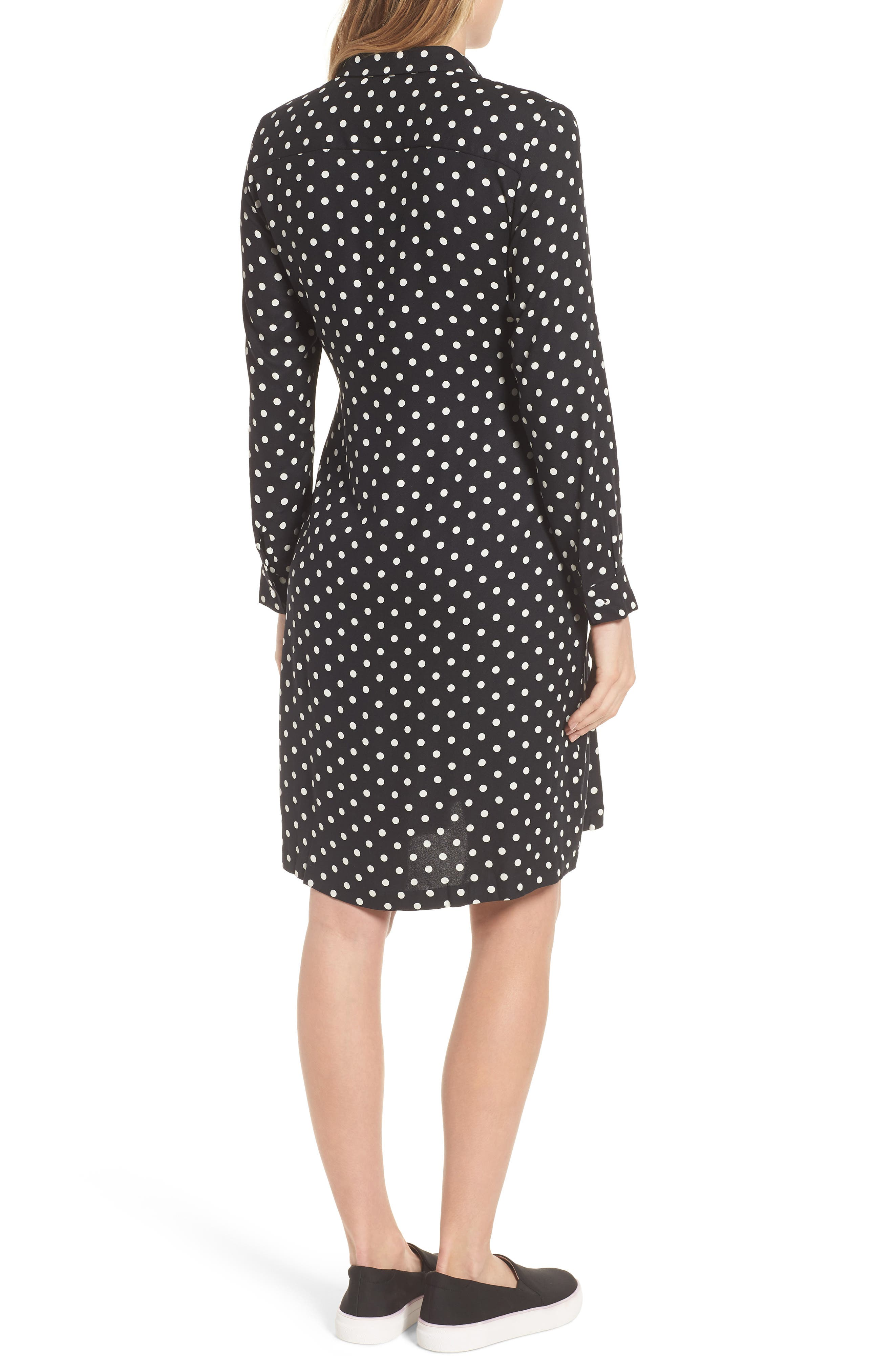 ISABELLA OLIVER,                             Elisha Maternity Shirtdress,                             Alternate thumbnail 2, color,                             BLACK/WHITE POLKA CREPE