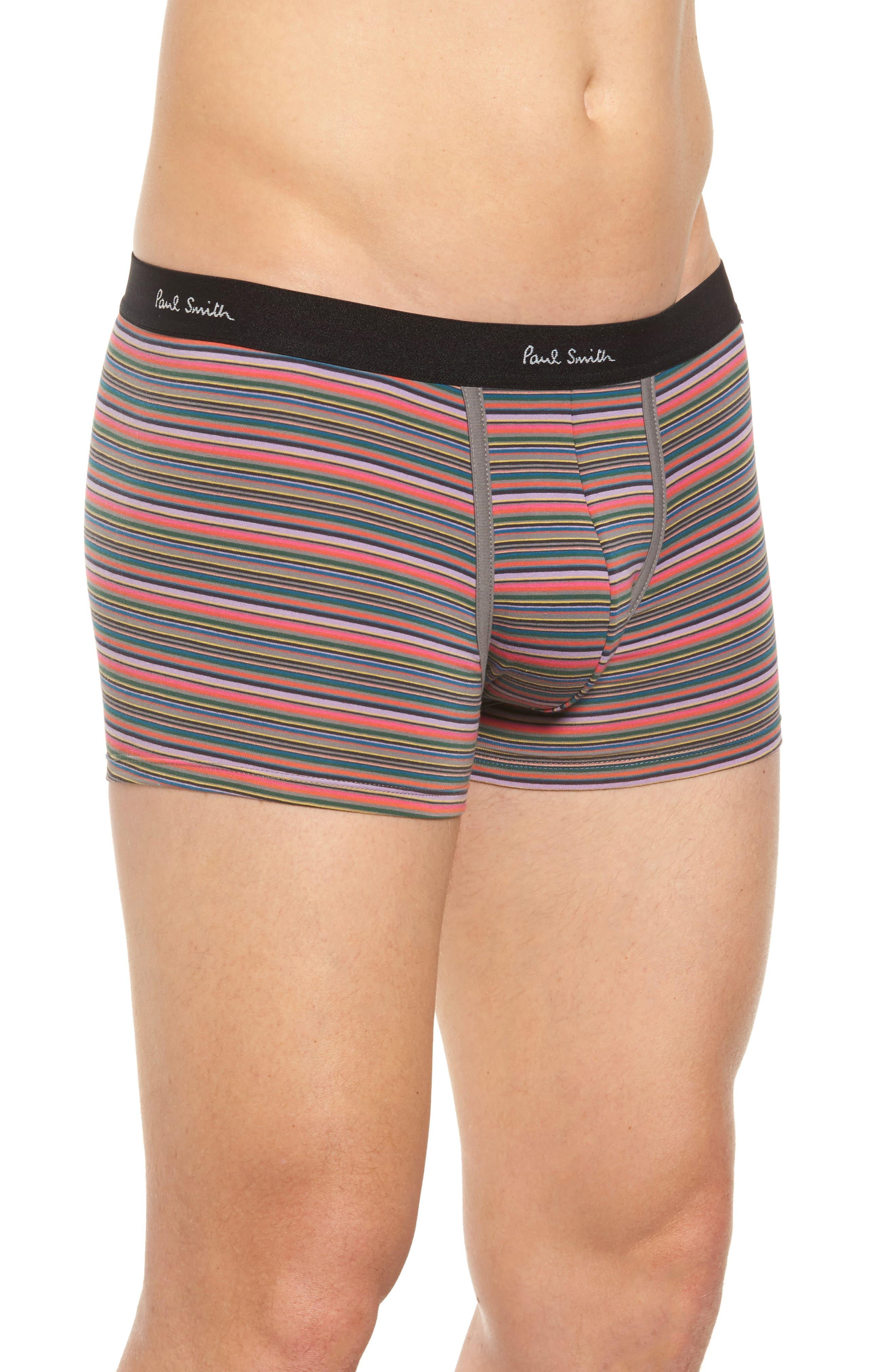 Fine Stripe Stretch Cotton Trunks,                             Alternate thumbnail 5, color,
