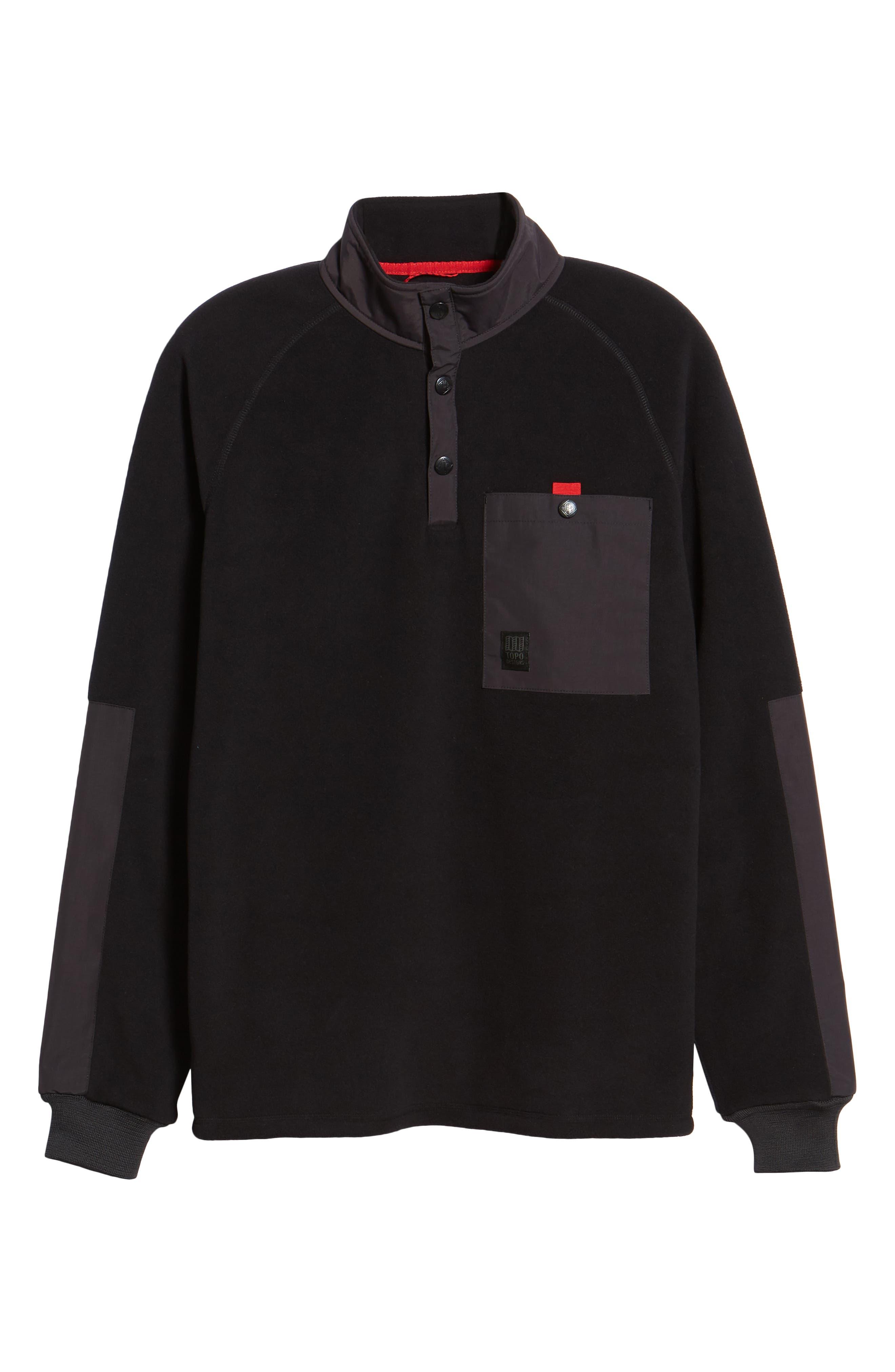 Mountain Fleece Pullover,                             Alternate thumbnail 6, color,                             BLACK
