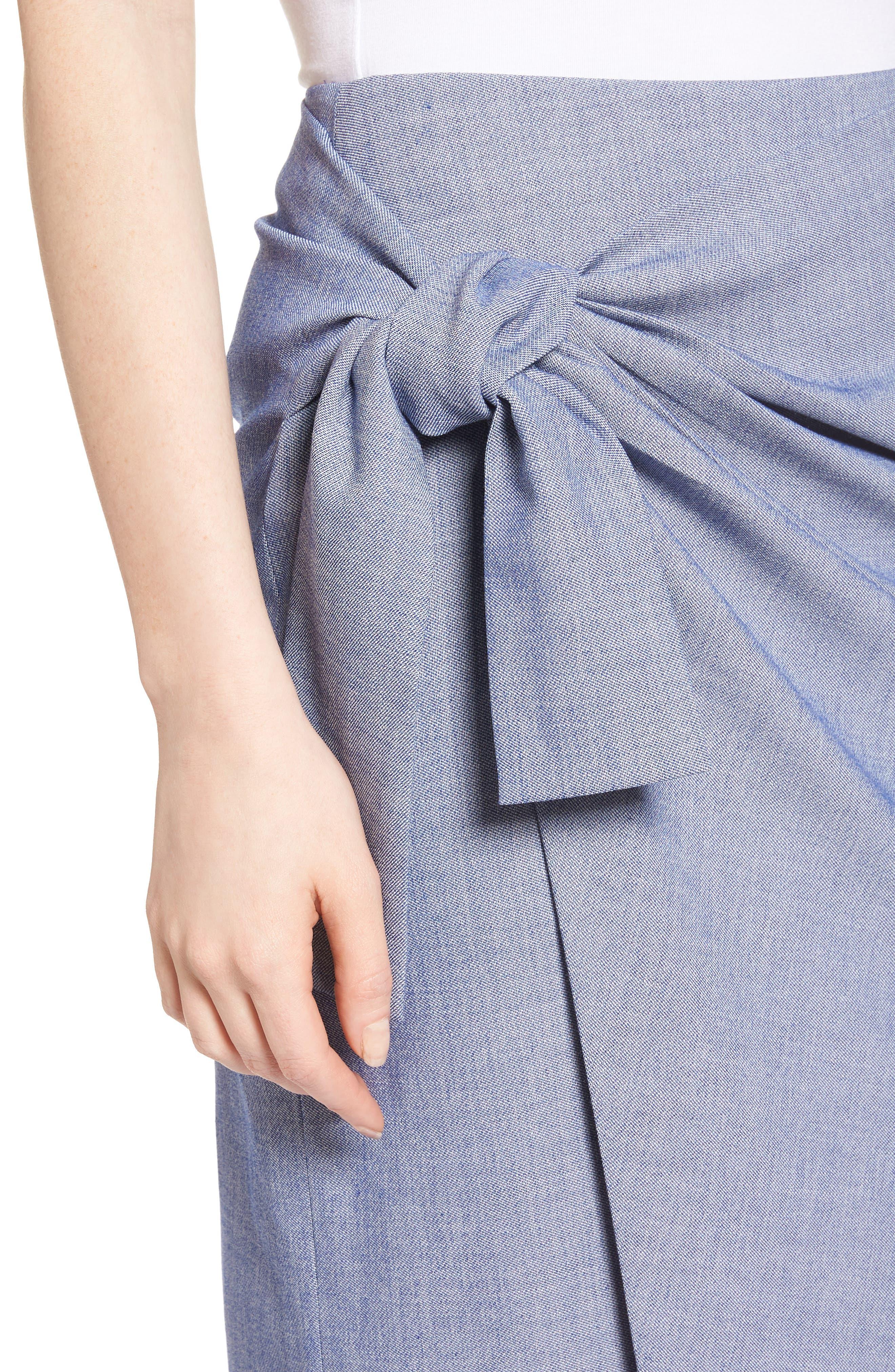 Side Tie Pencil Skirt,                             Alternate thumbnail 4, color,                             400