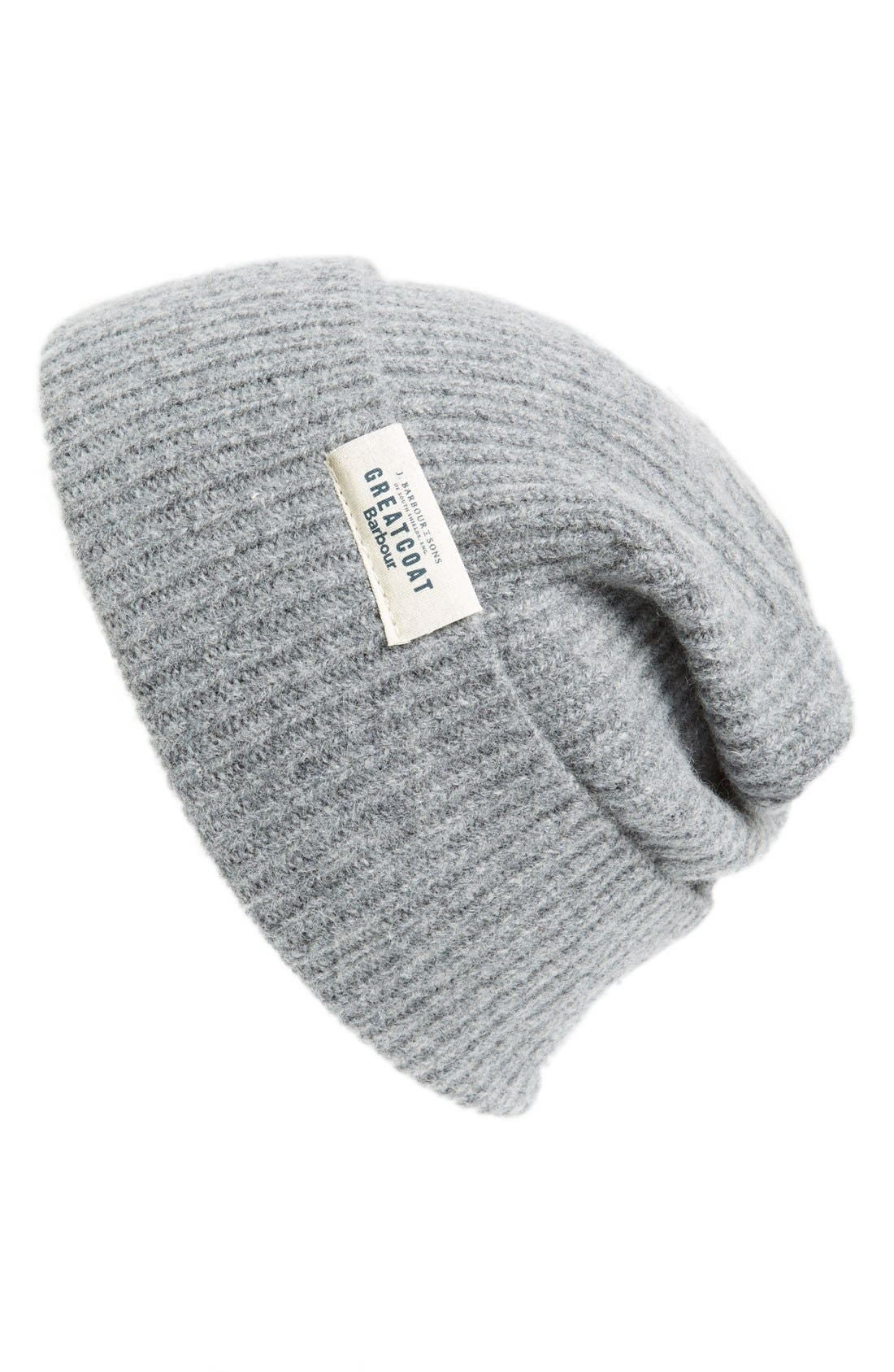'Great Coat' Wool Beanie, Main, color, 020