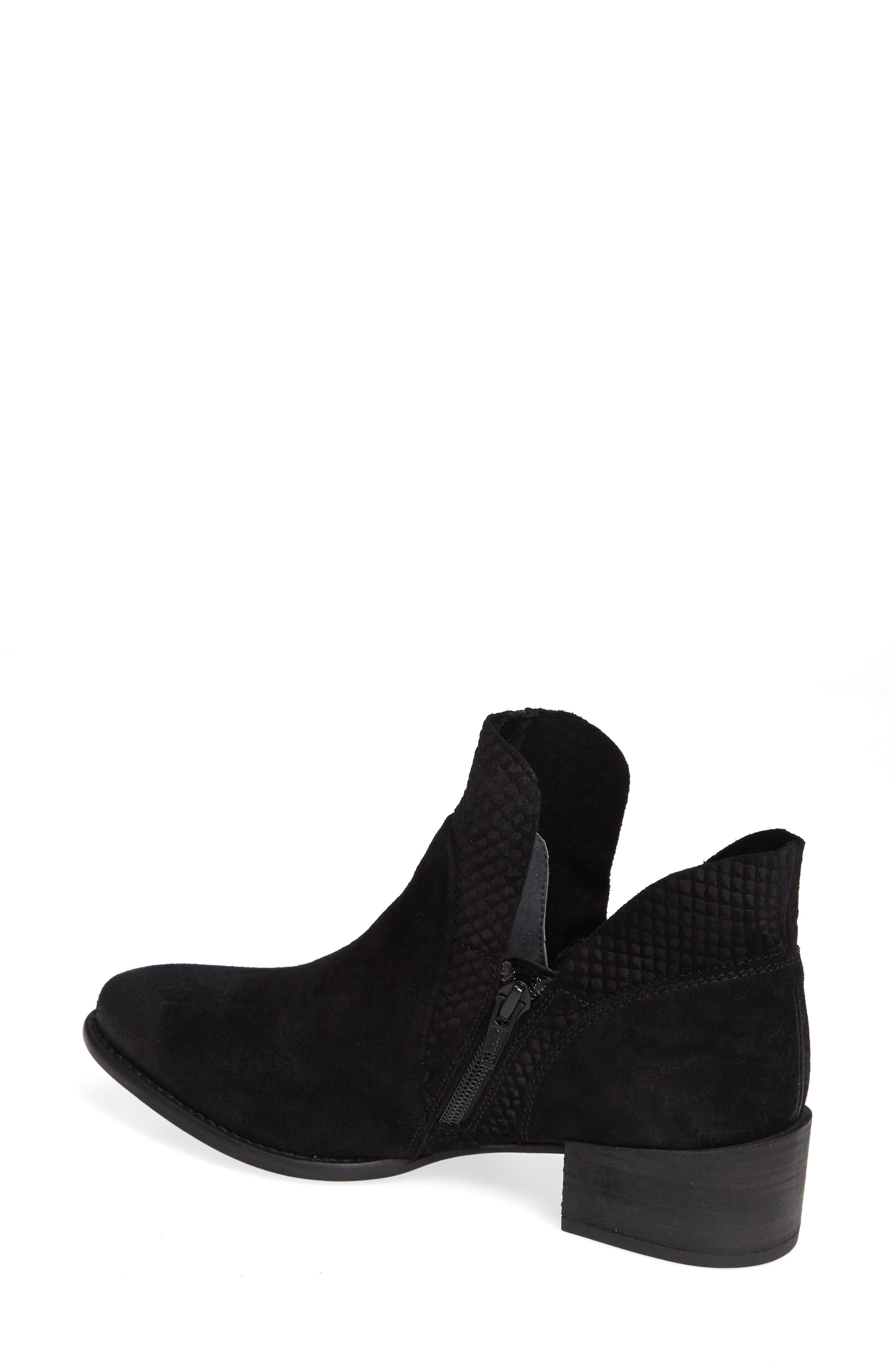 Score Bootie,                             Alternate thumbnail 2, color,                             BLACK SUEDE