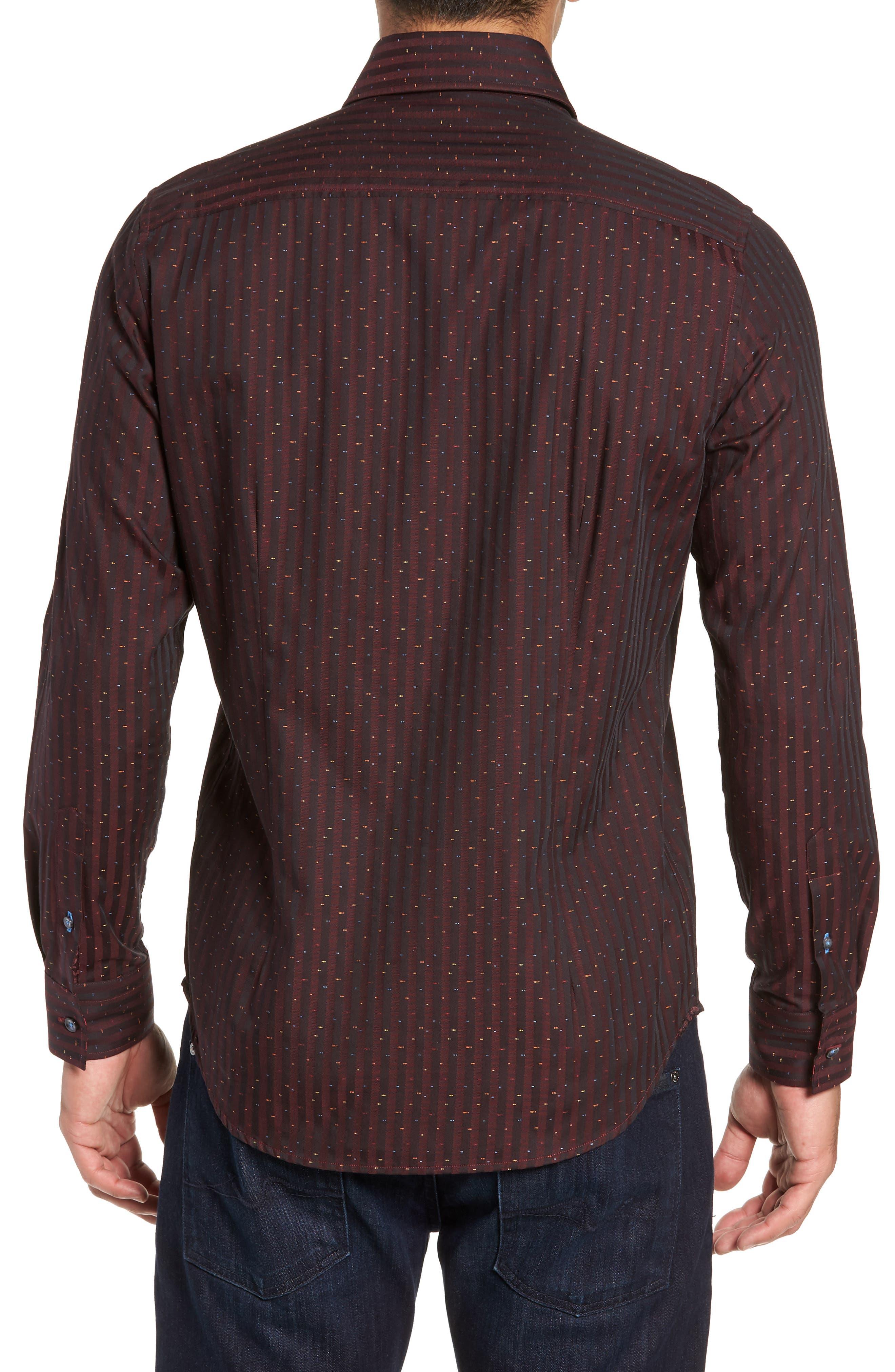 ROBERT GRAHAM,                             McDermott Tailored Fit Print Sport Shirt,                             Alternate thumbnail 3, color,                             603