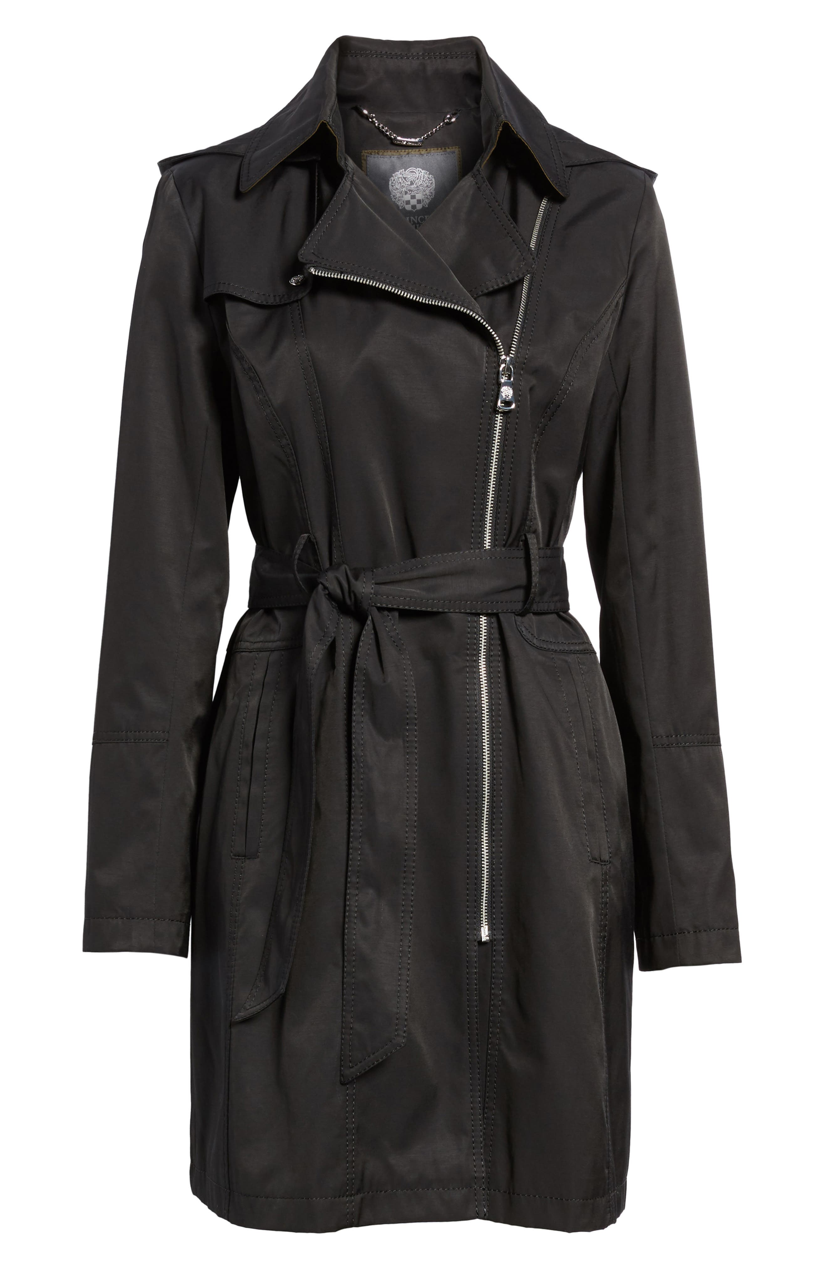 Belted Asymmetrical Trench Coat,                             Alternate thumbnail 13, color,
