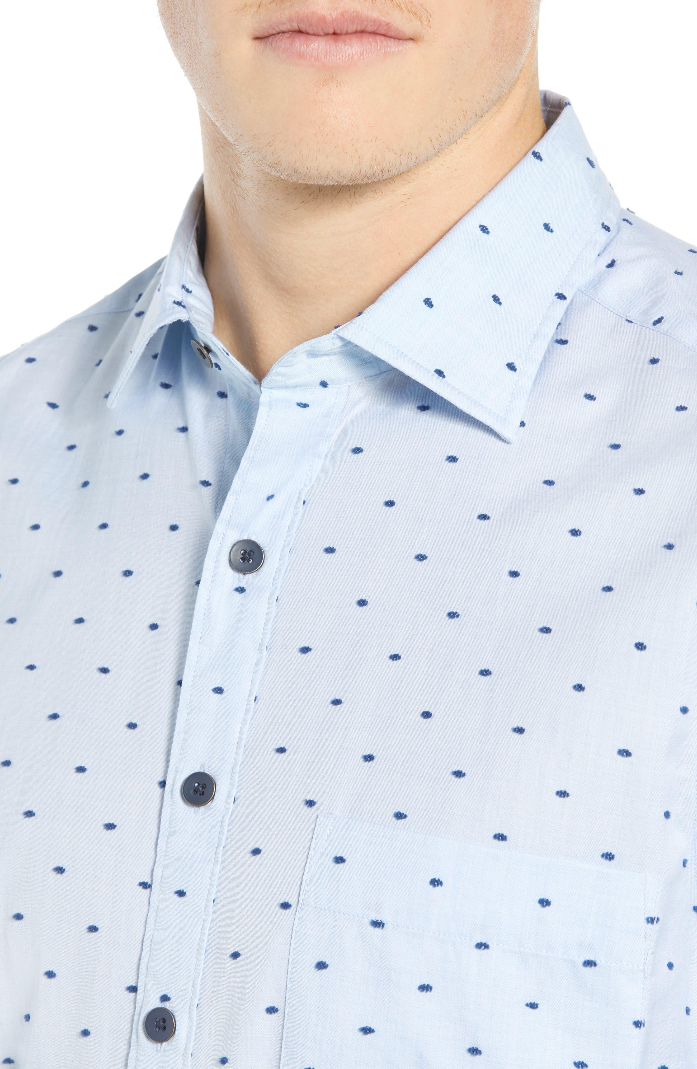 Fraser Road Regular Fit Dot Sport Shirt,                             Alternate thumbnail 2, color,                             459