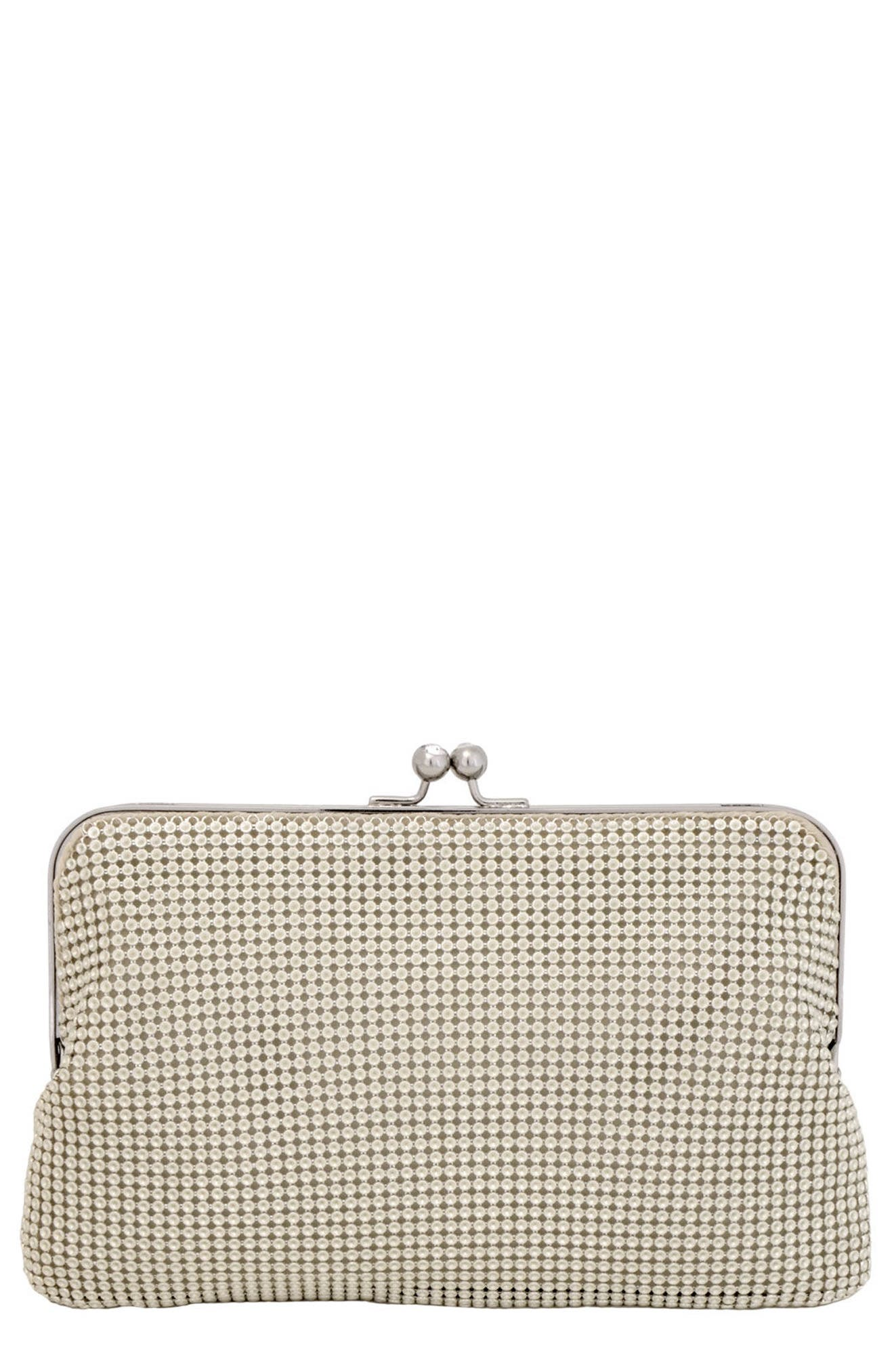 Mesh Clutch,                         Main,                         color, PEARL
