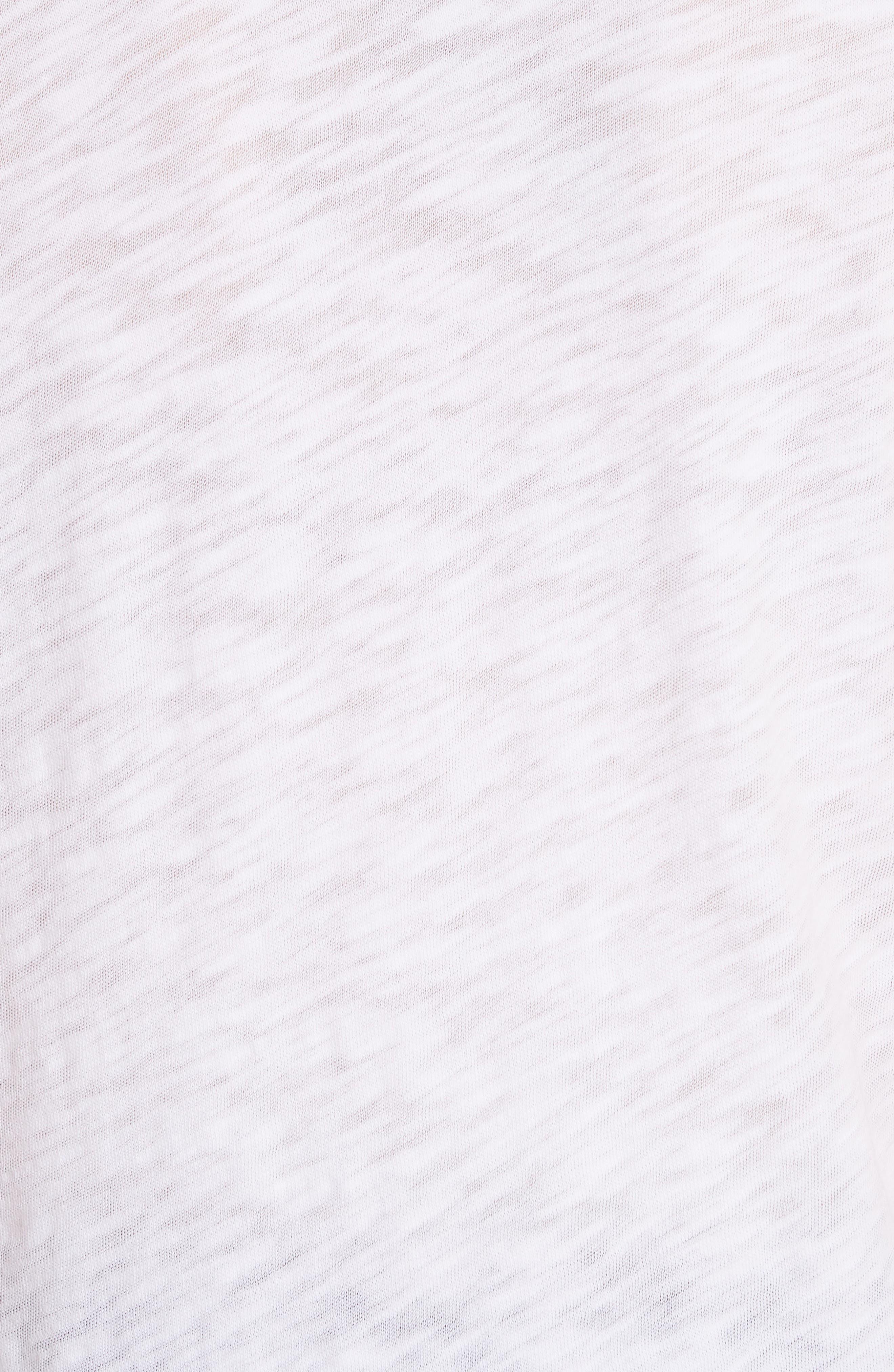 'Schoolboy' Cotton Crewneck Tee,                             Alternate thumbnail 5, color,                             WHITE