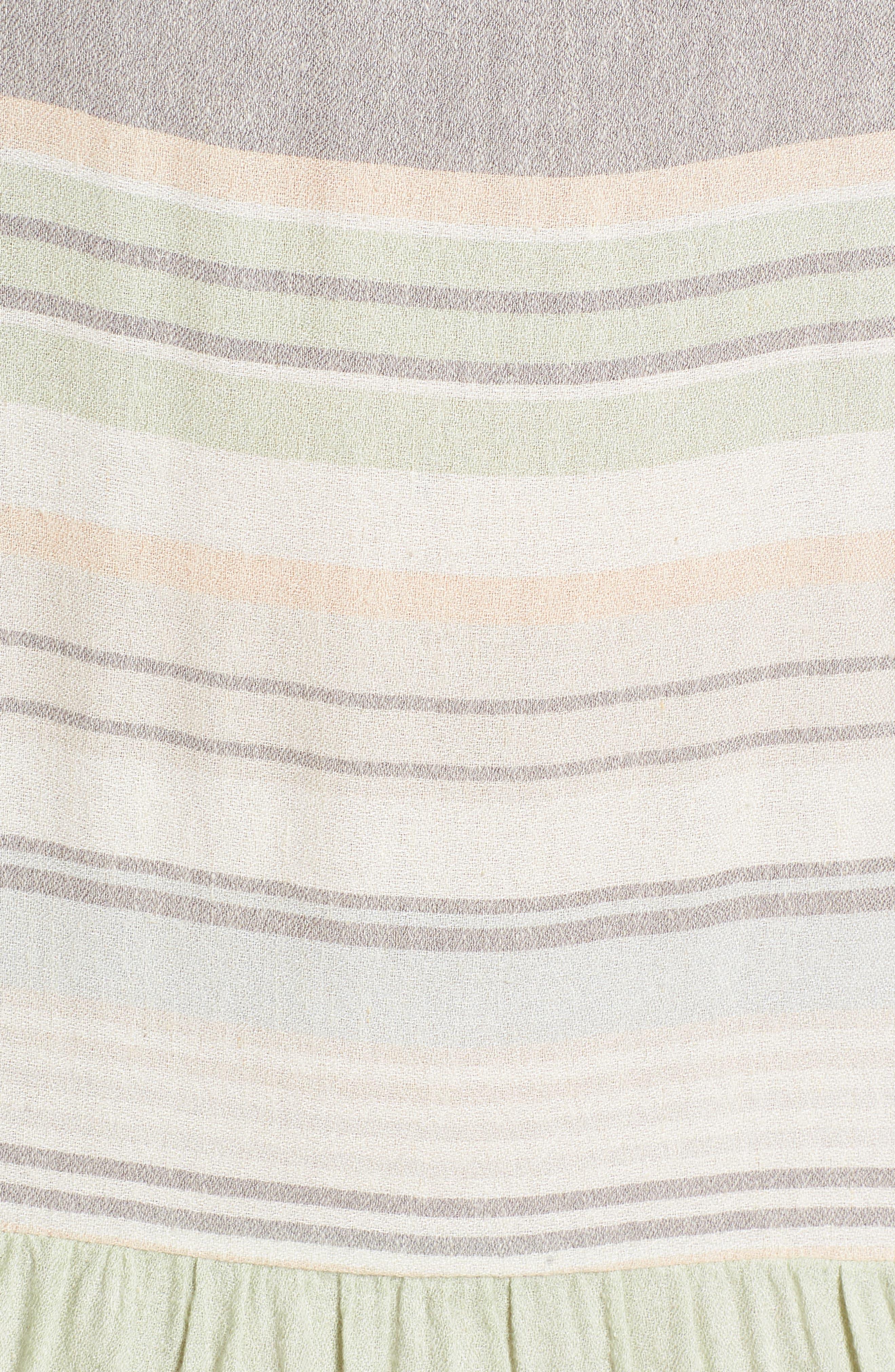 Multi Stripe Woven Maxi Dress,                             Alternate thumbnail 5, color,                             330