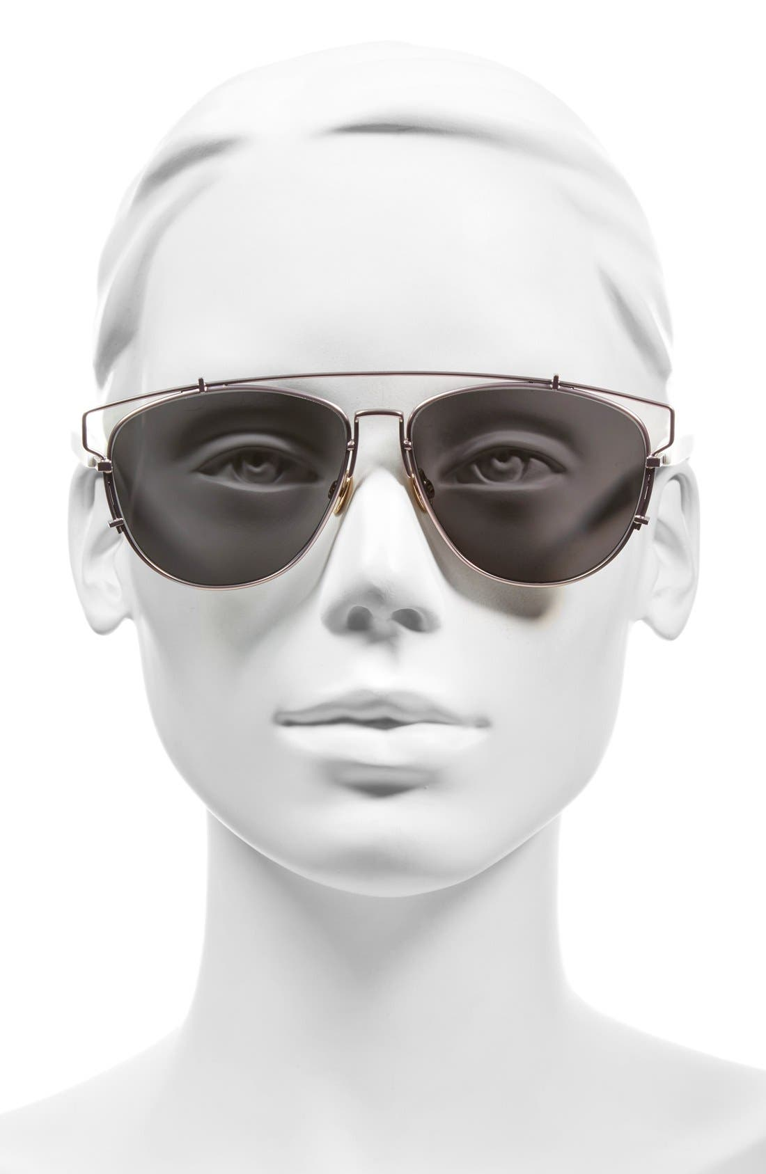 Technologic 57mm Brow Bar Sunglasses,                             Alternate thumbnail 26, color,