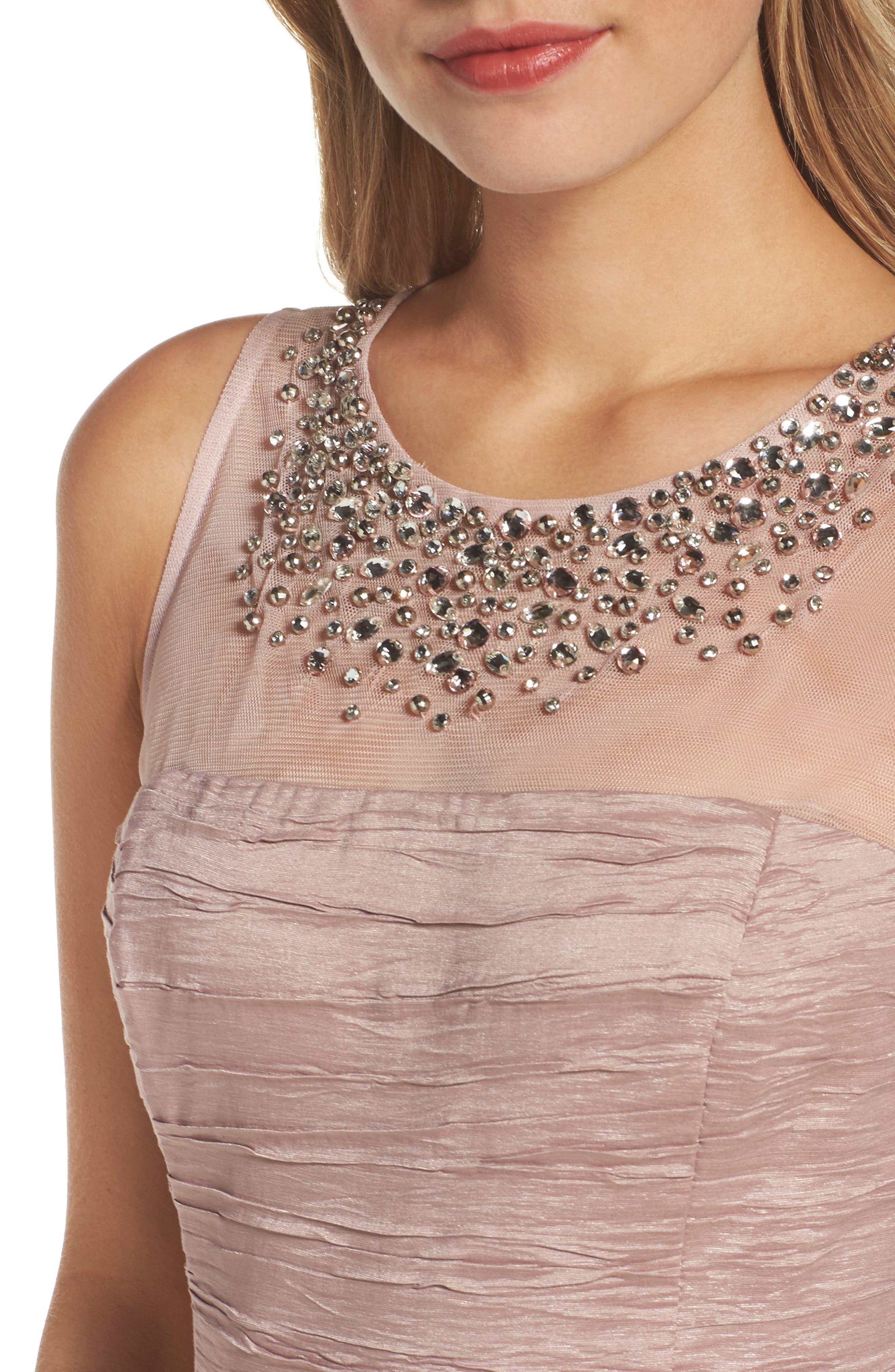 Metallic Sheath Dress,                             Alternate thumbnail 8, color,