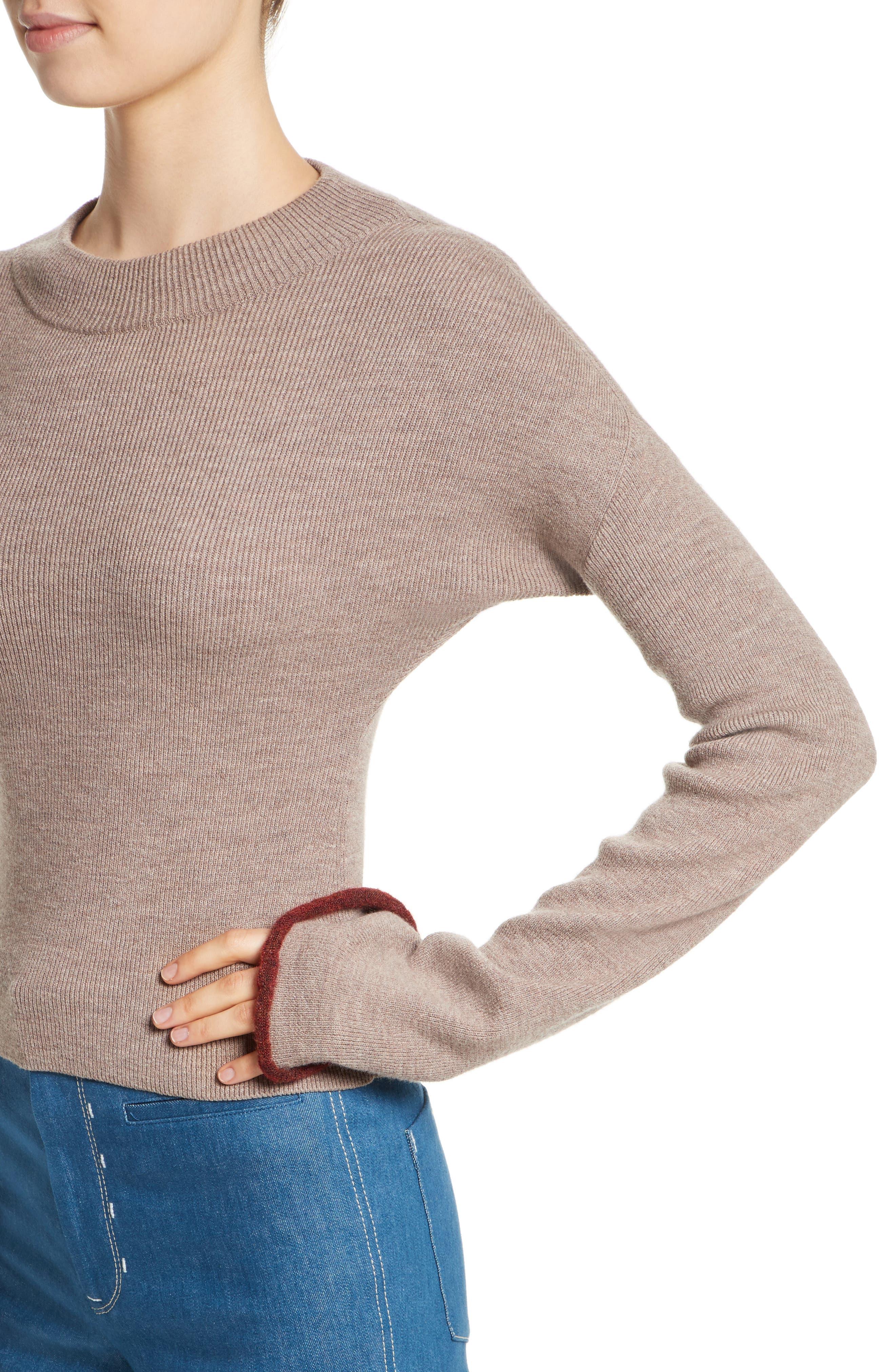 Mock Neck Sweater,                             Alternate thumbnail 4, color,                             260
