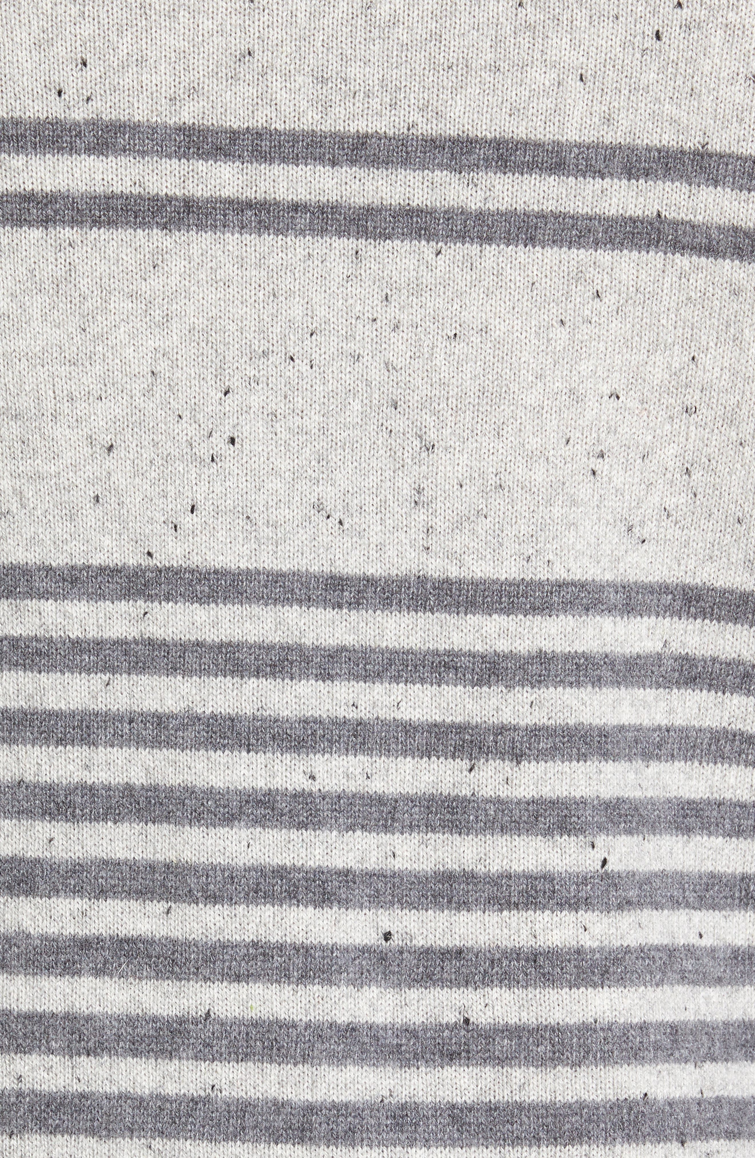Donegal Stripe Cashmere Sweater,                             Alternate thumbnail 5, color,                             020