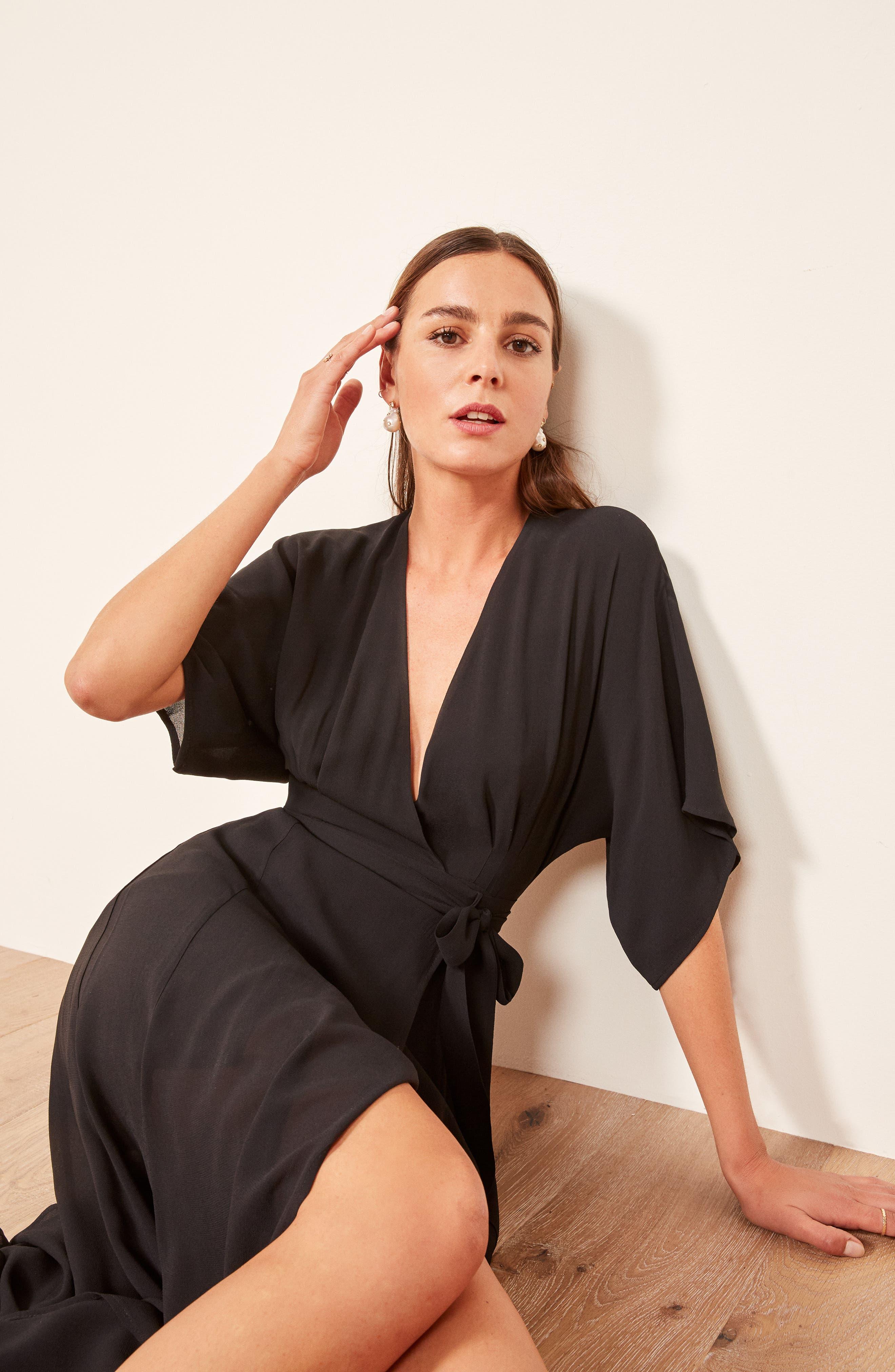 Winslow Maxi Dress,                             Alternate thumbnail 2, color,                             BLACK