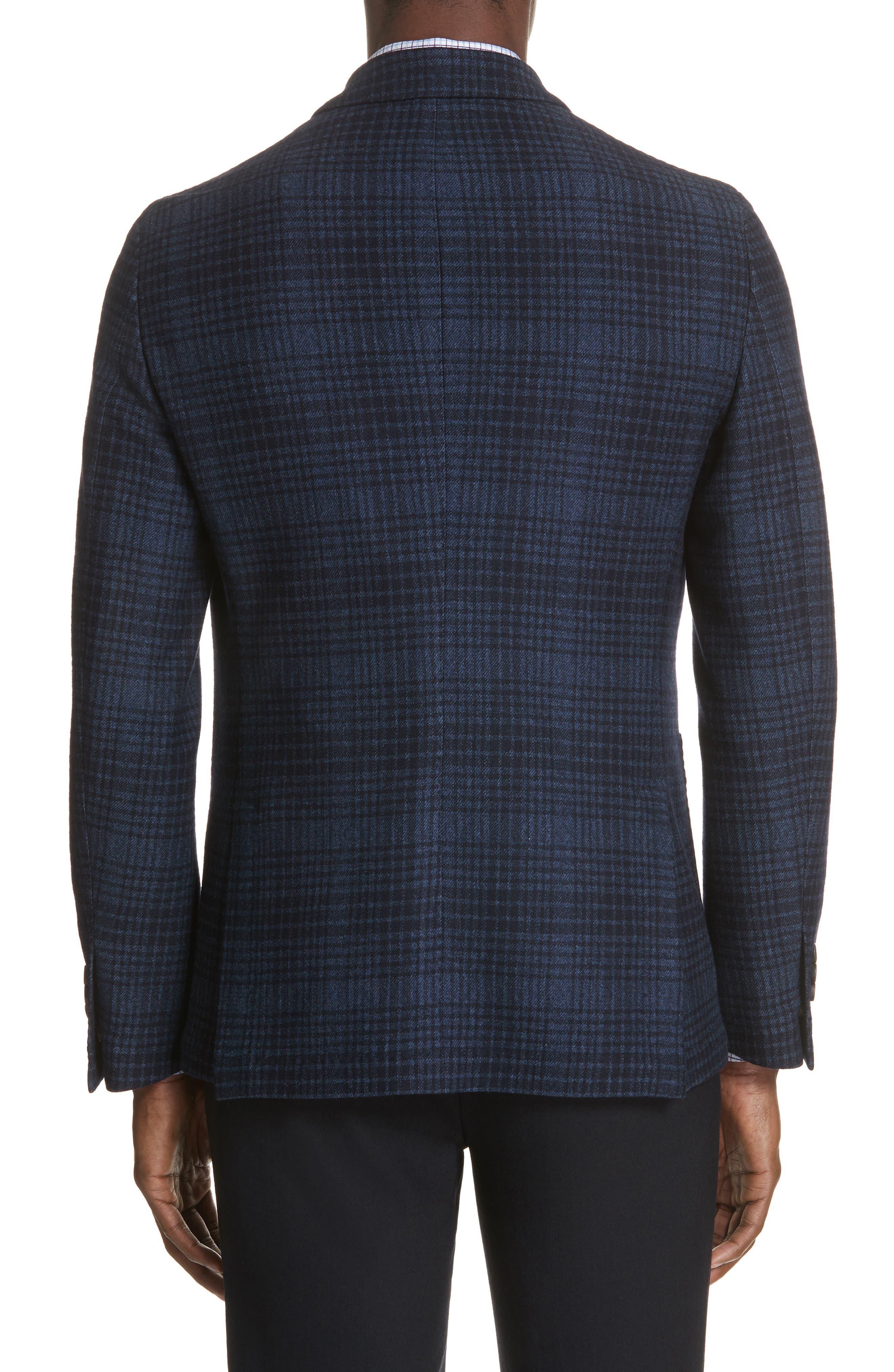 Slim Fit Plaid Wool & Cotton Sport Coat,                             Alternate thumbnail 2, color,                             400