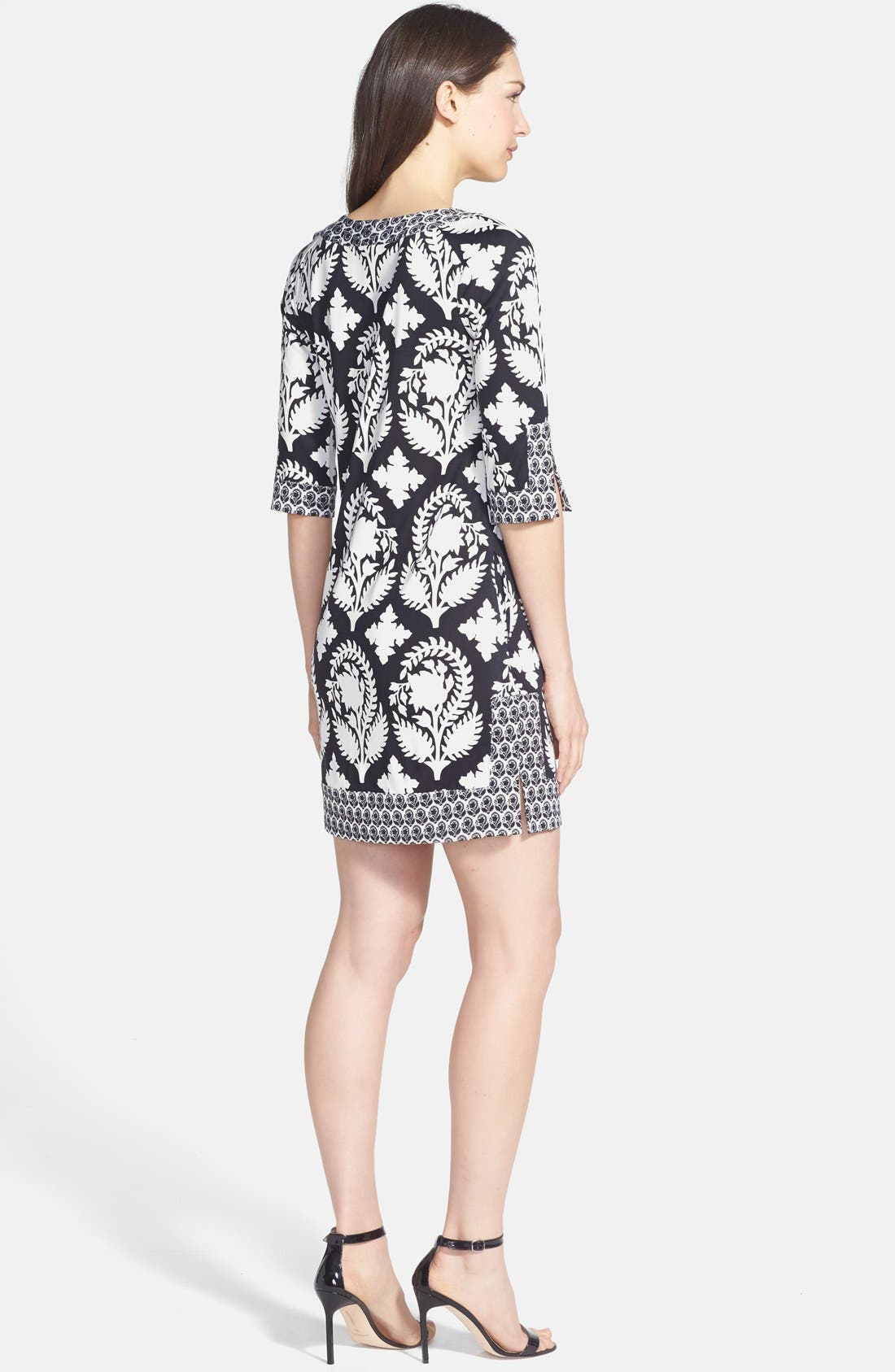 DIANE VON FURSTENBERG,                             'Eloise' Silk Knit Shift Dress,                             Alternate thumbnail 2, color,                             015